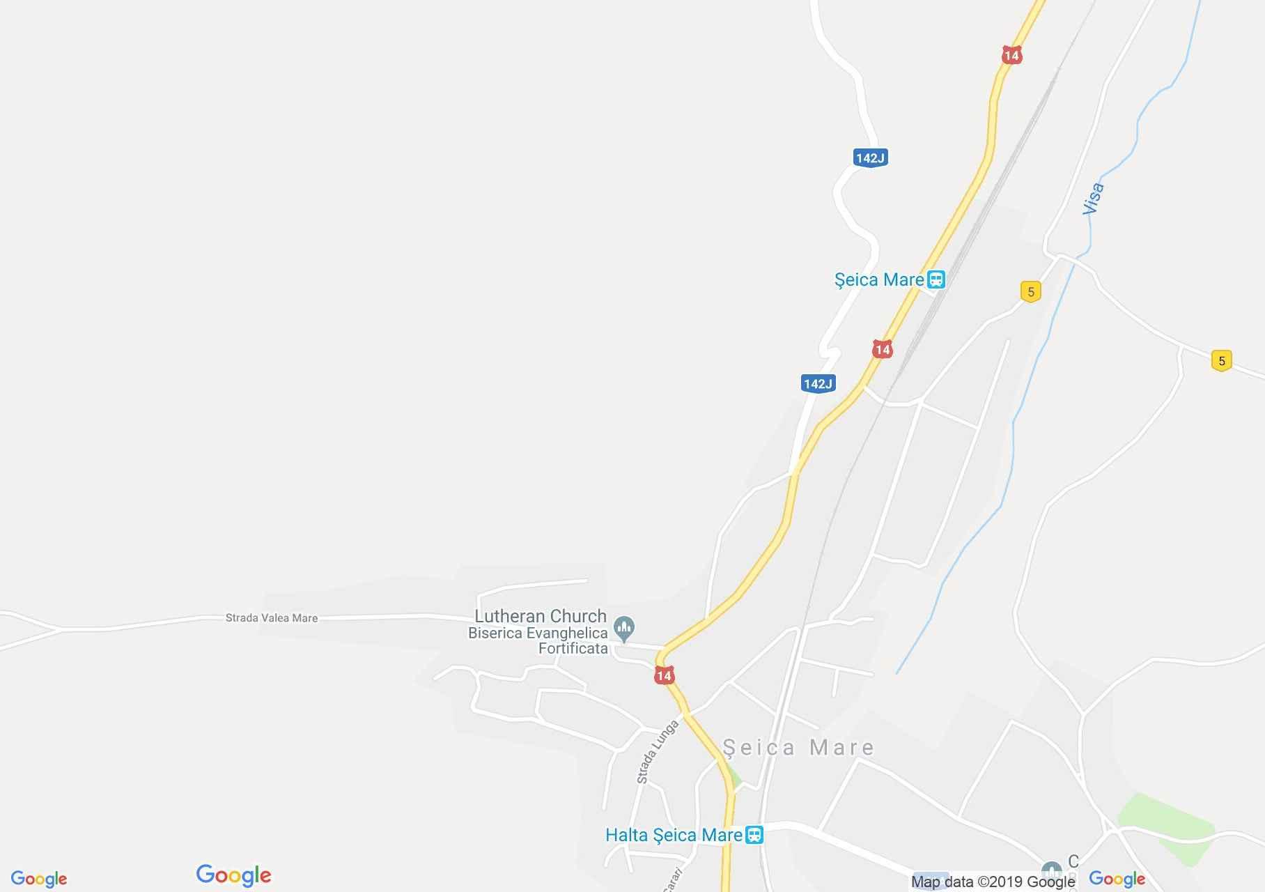 Hartă Şeica Mare: Biserica evanghelică fortificată