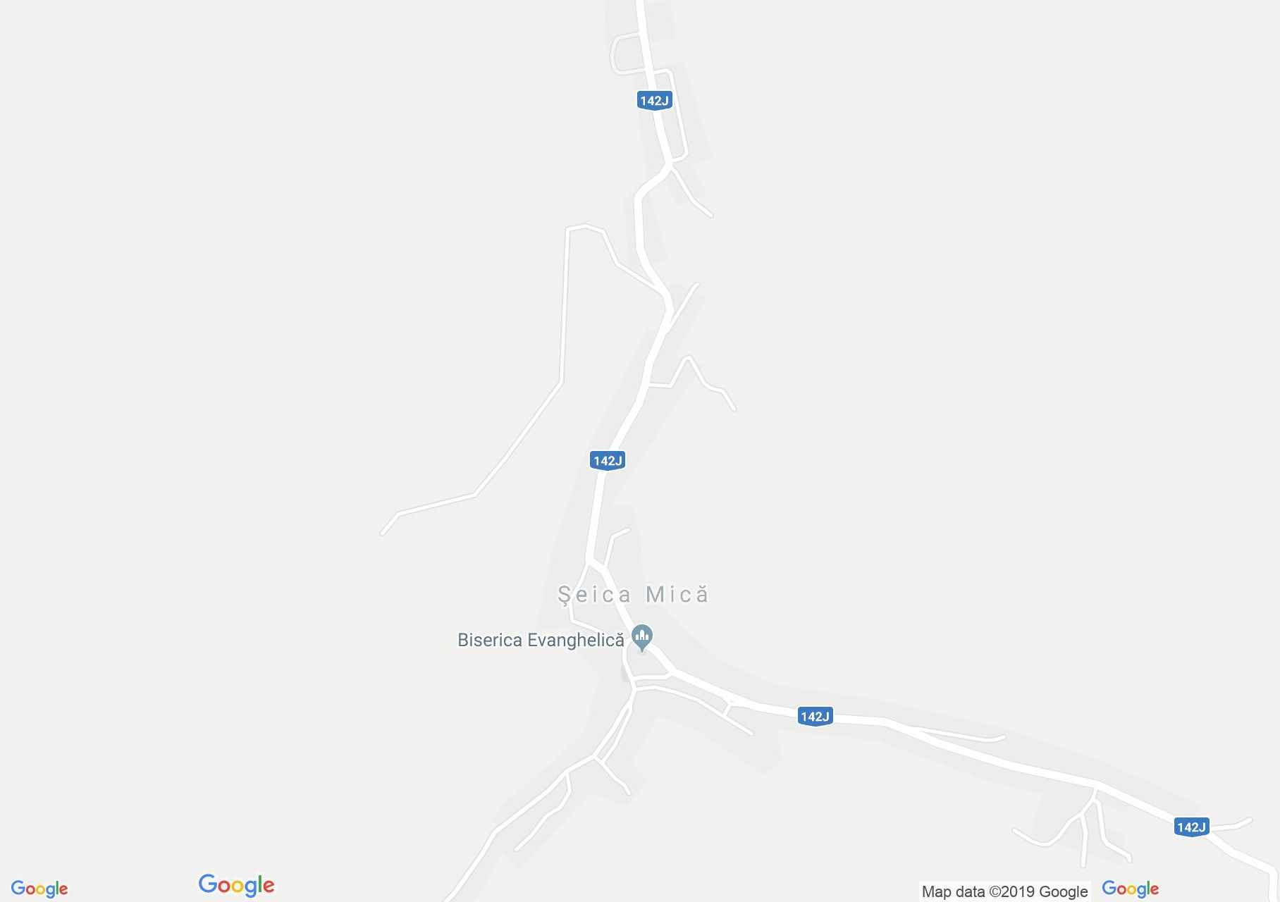 Hartă Şeica Mică: Biserica evanghelică fortificată