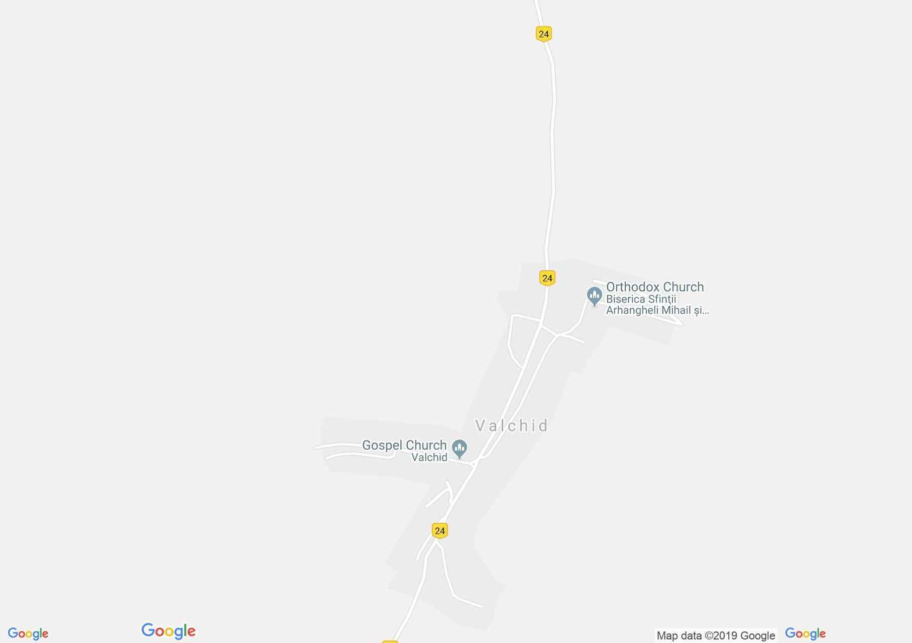 Váldhíd: Evangélikus erődtemplom (térkép)