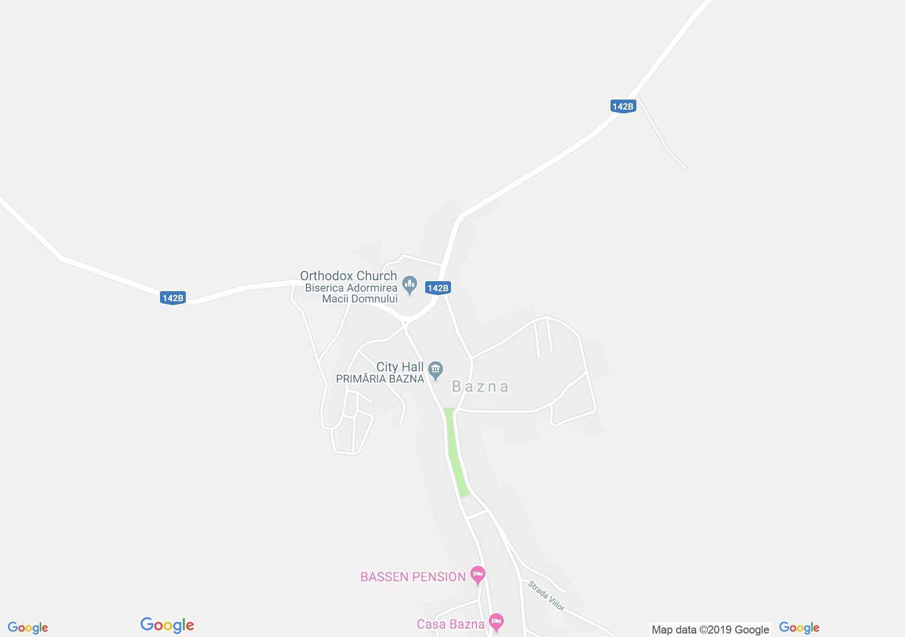 Bázna (térkép)