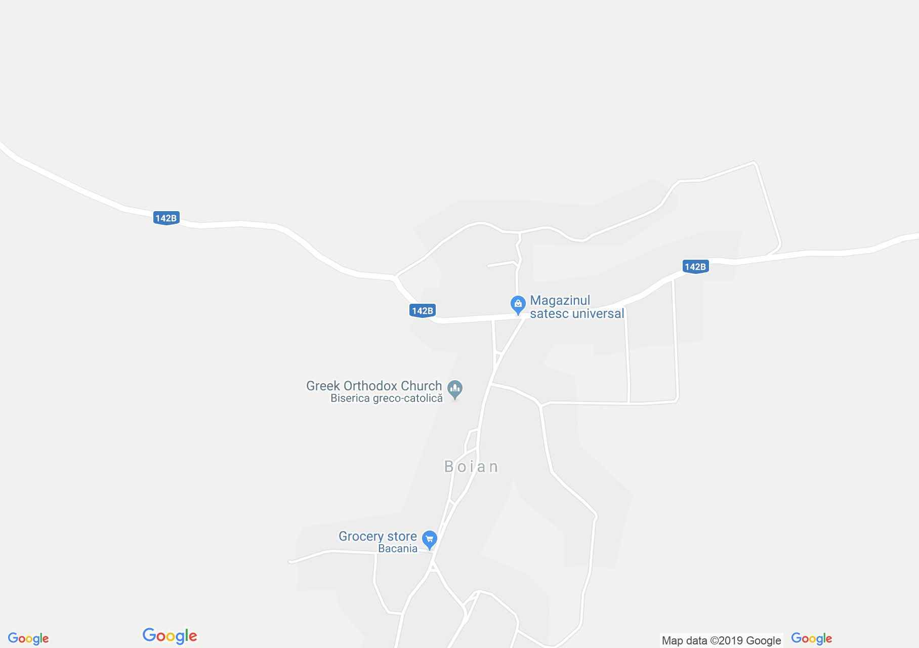 Hartă Boian: Biserica evanghelică fortificată