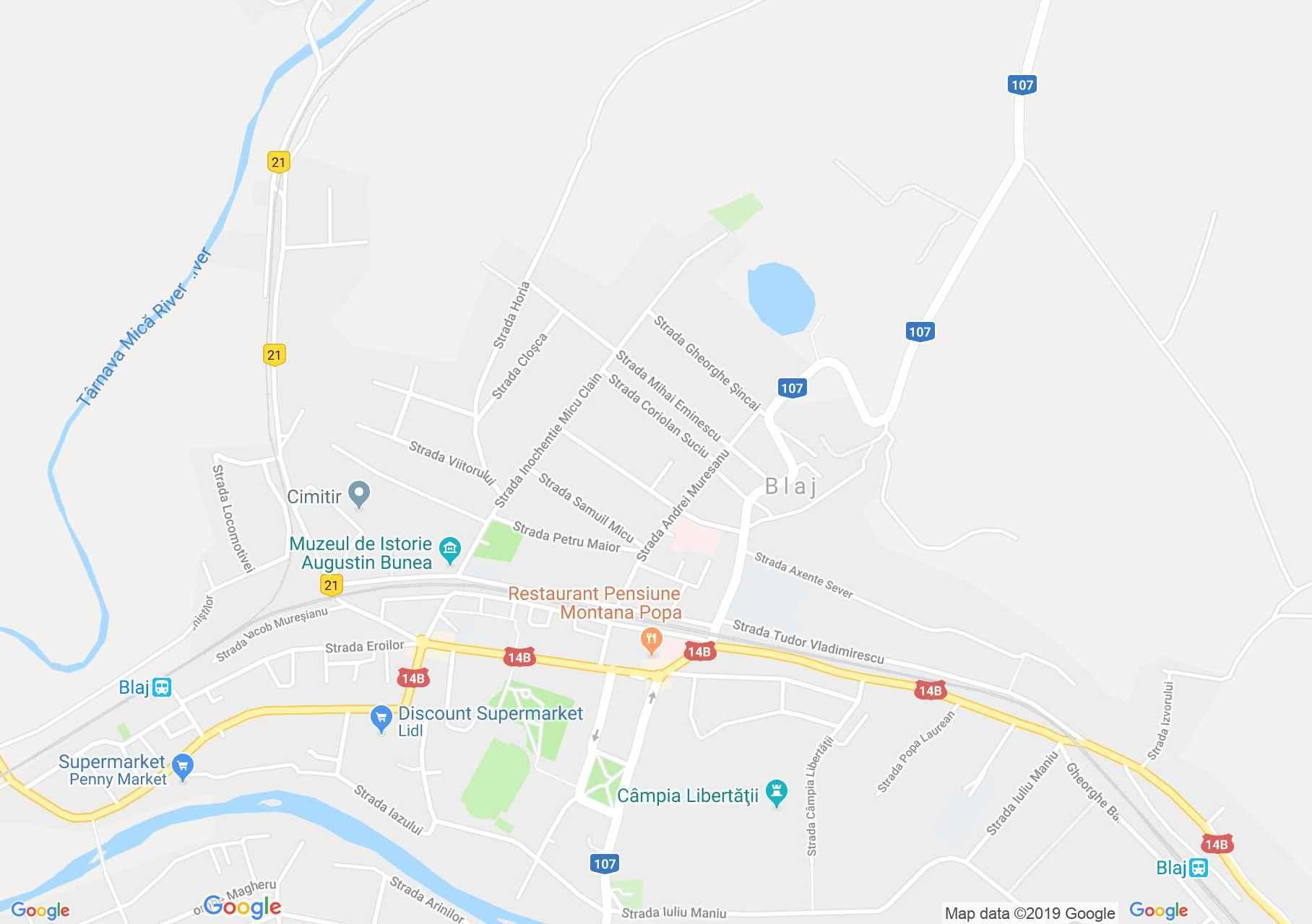 Balázsfalva (térkép)