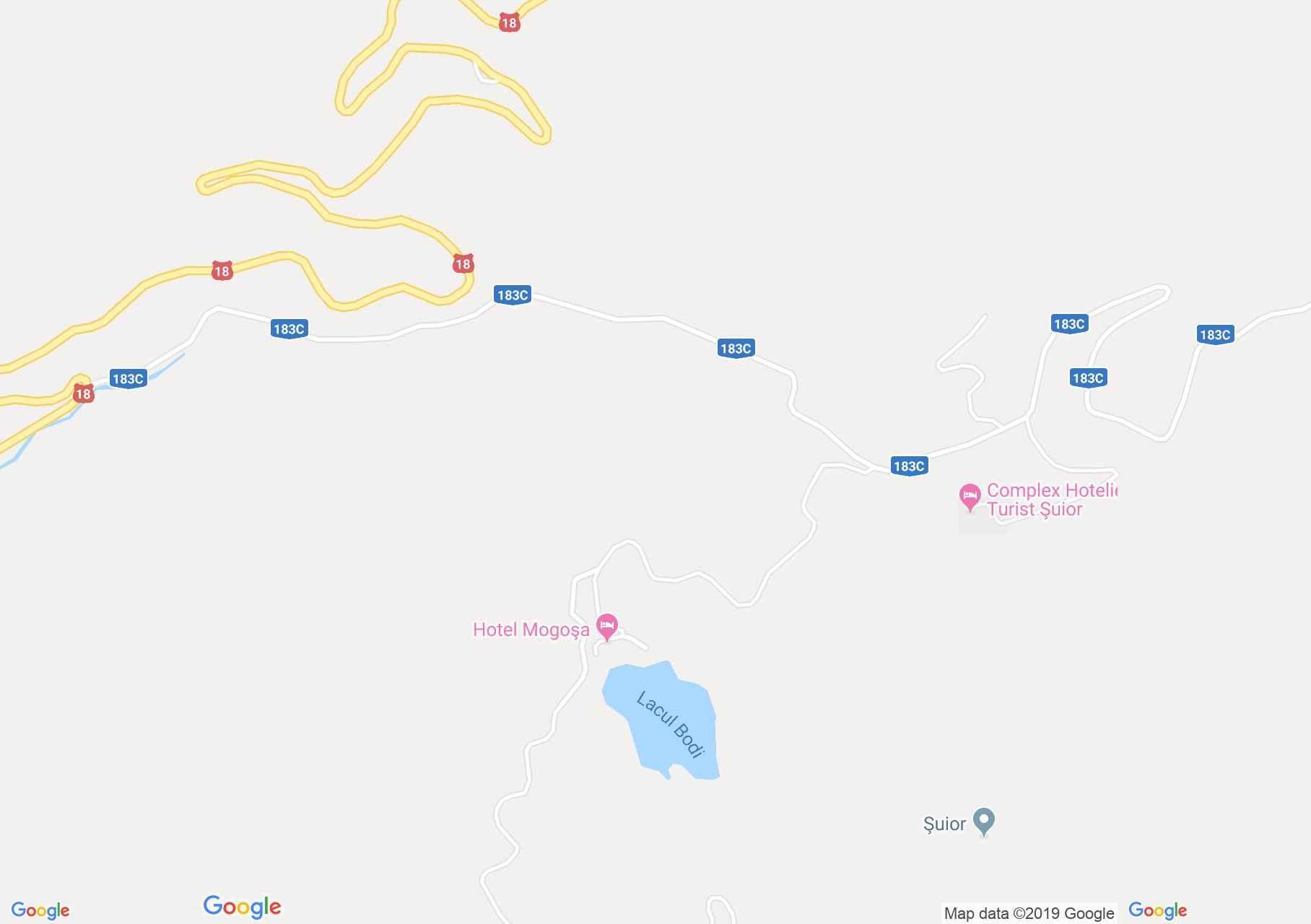 Hartă DN18: Lacul Bodi Mogosa