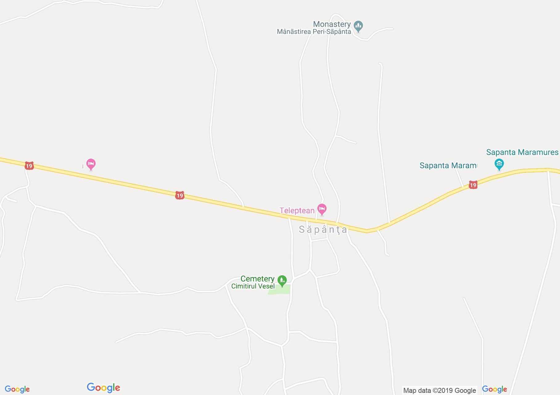 Szaplonca: Vidám temetői templom (térkép)