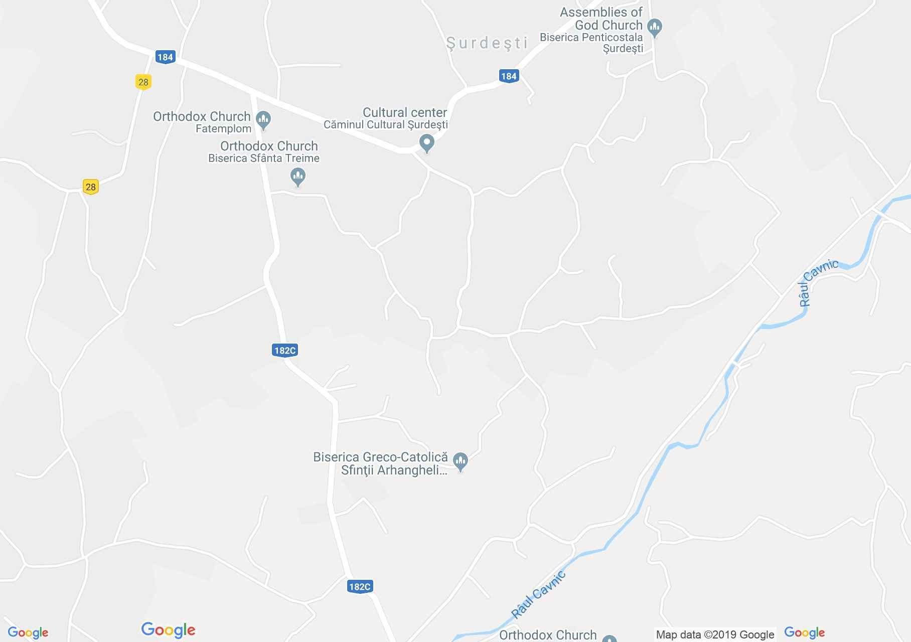 Hartă Şurdeşti: Biserica de lemn