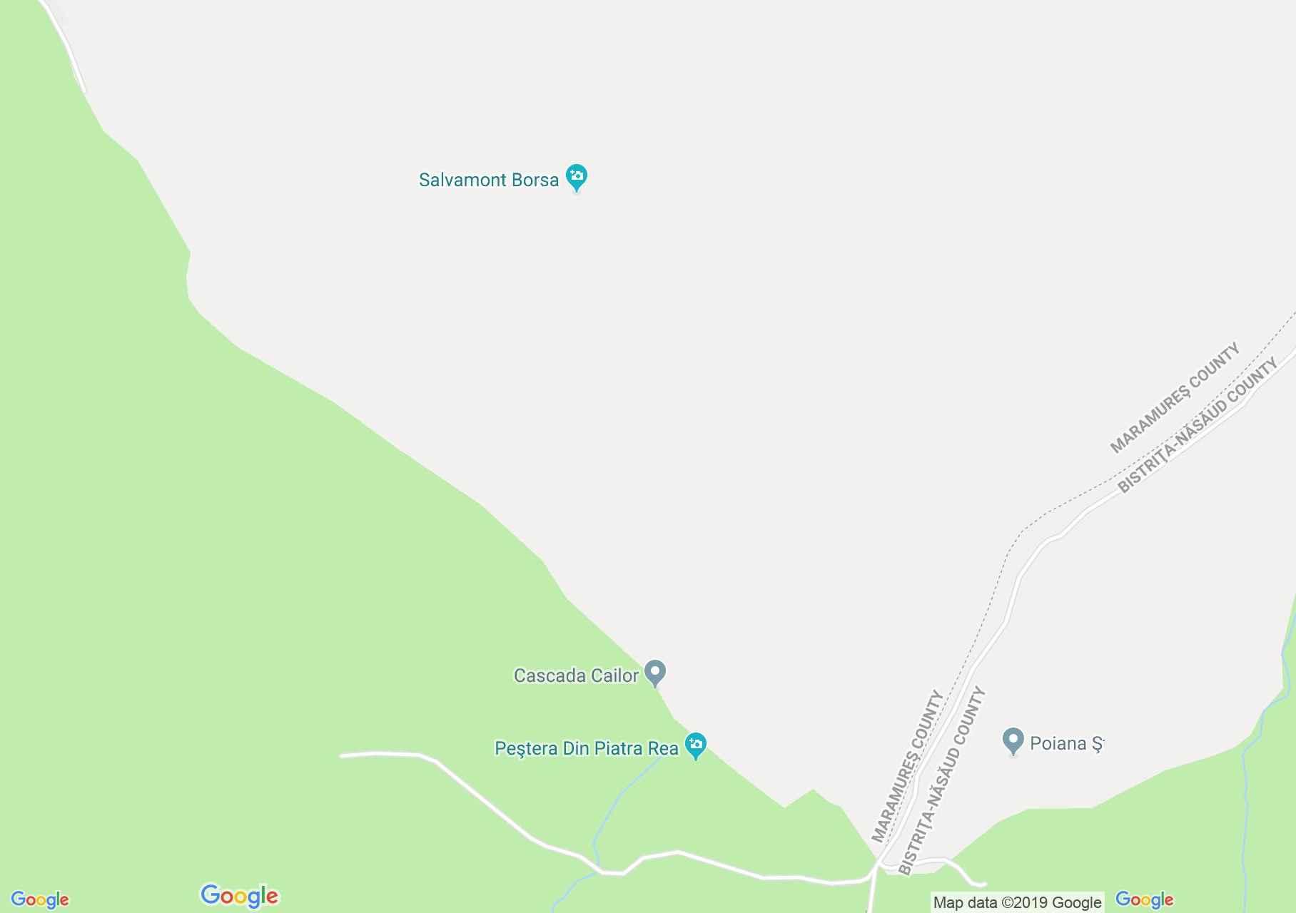 Hartă DN18: Cascada Cailor