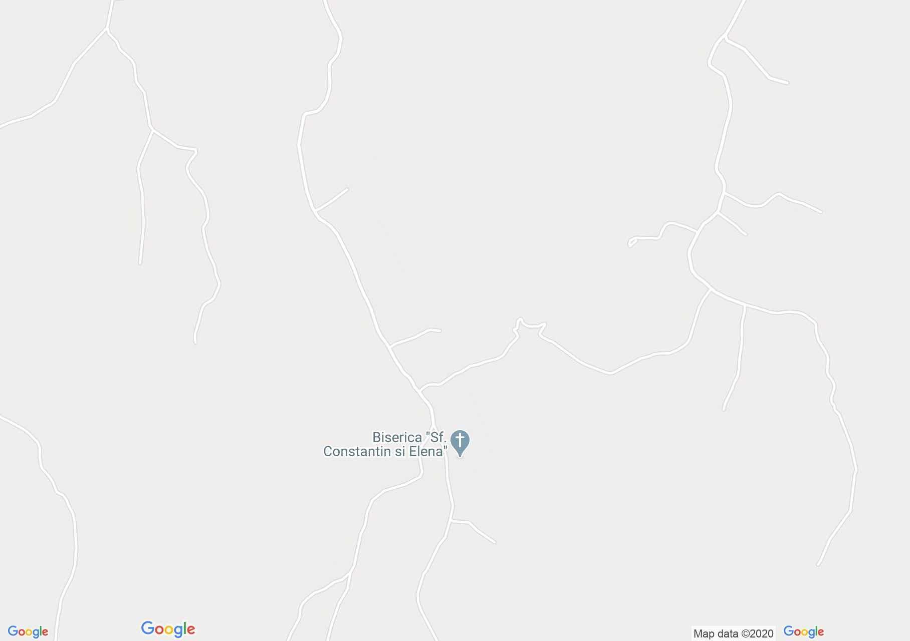 Hartă Aspra: Biserica de lemn