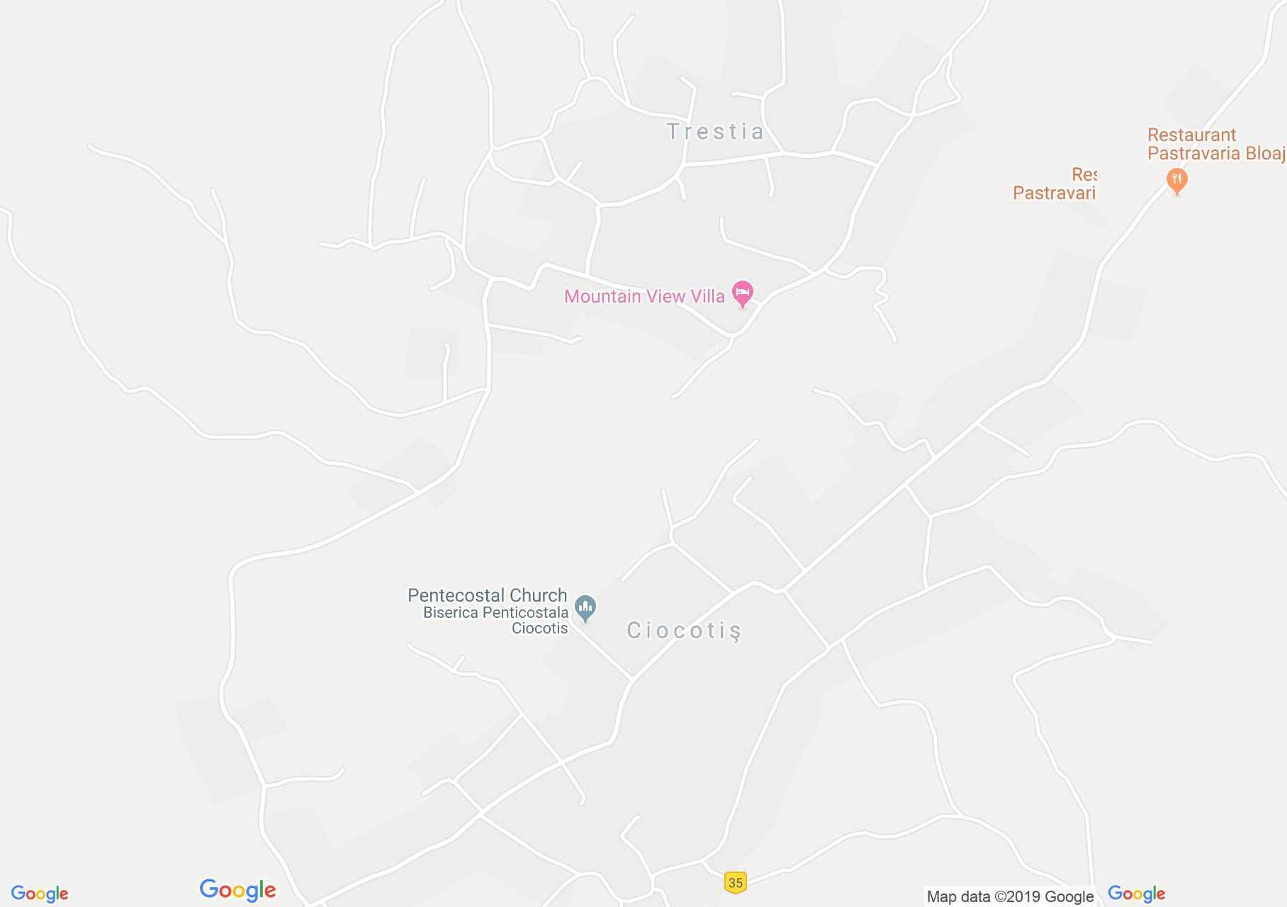 Hartă Ciocotiş: Biserica ortodoxă