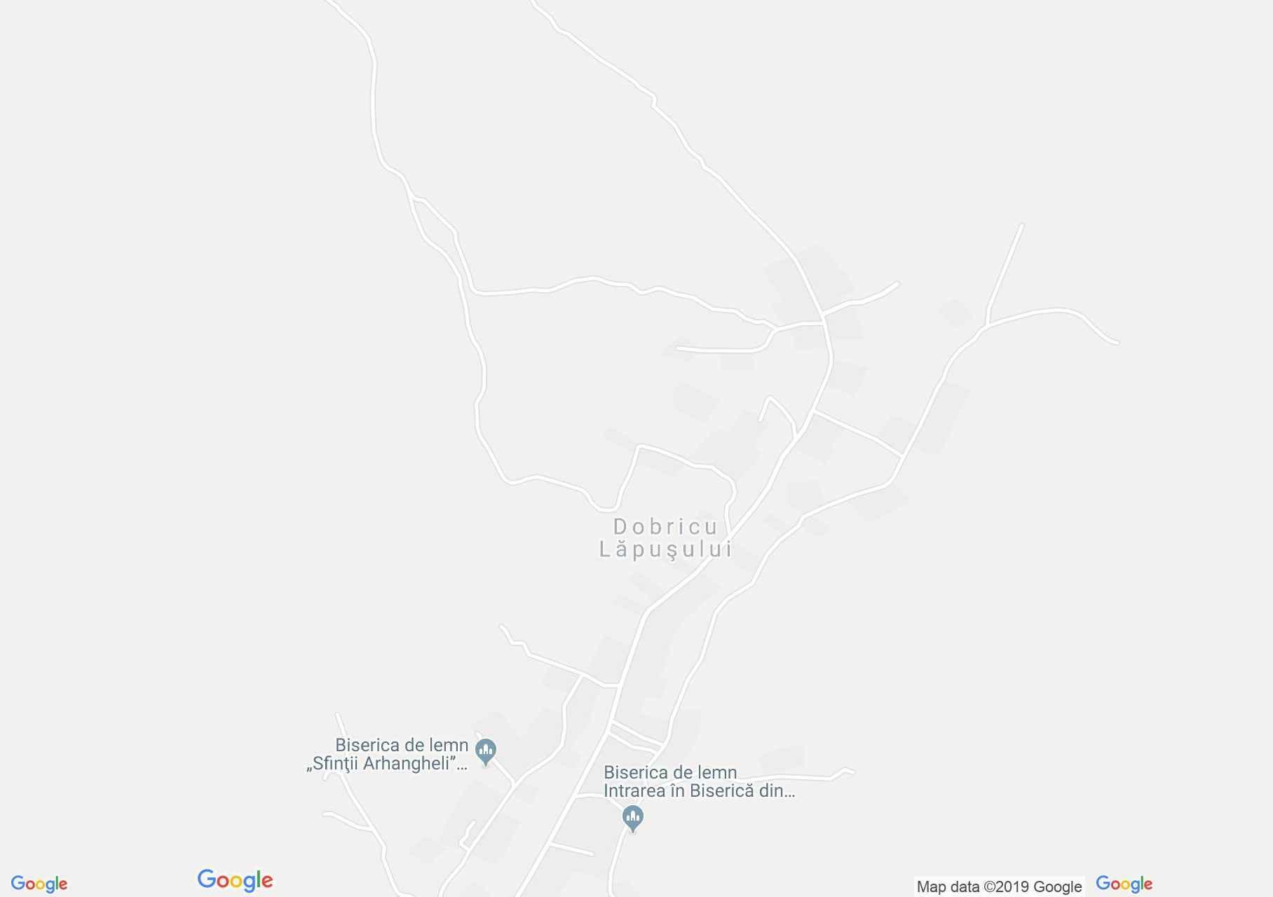 Hartă Dobricu Lăpuşului