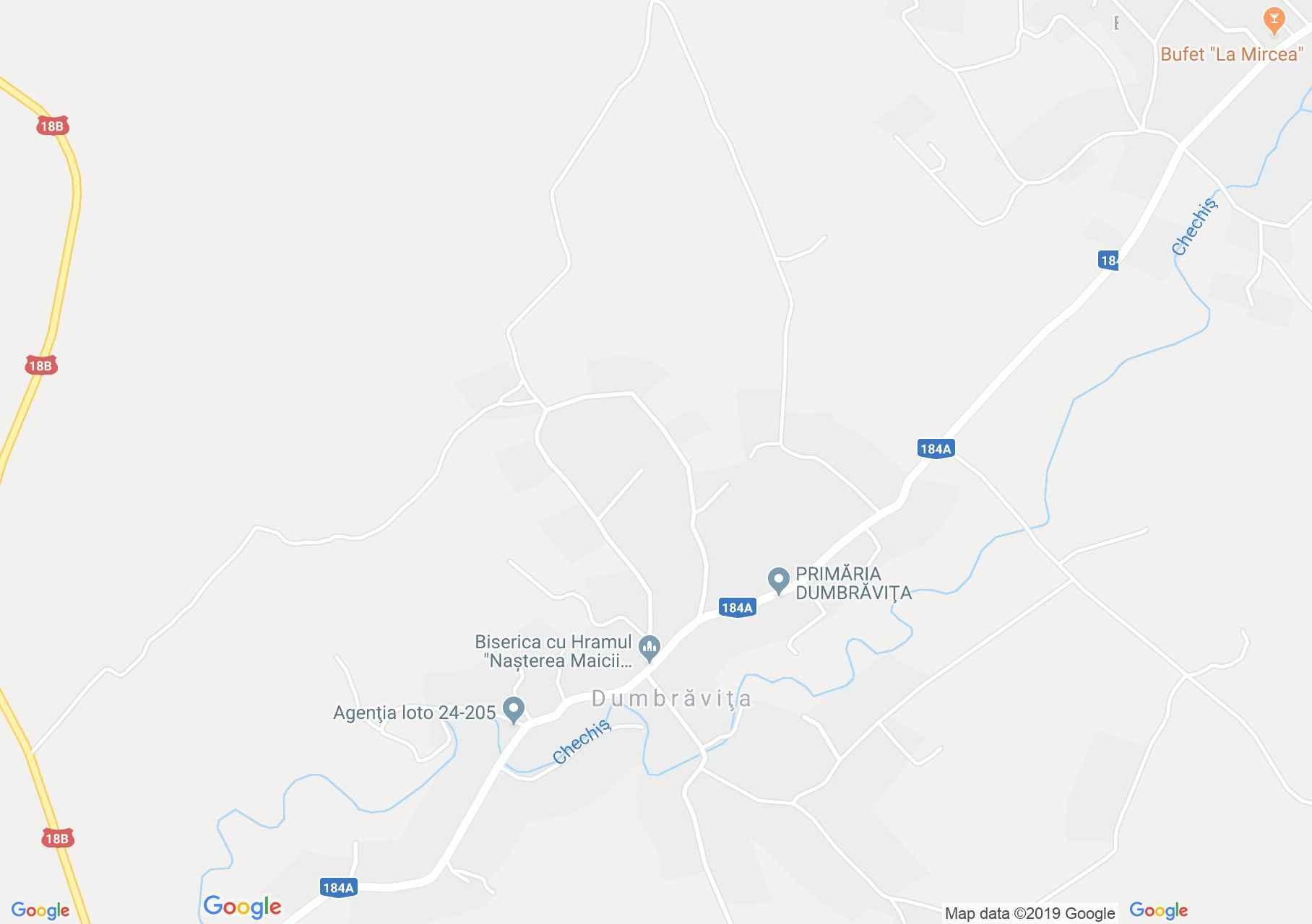 Hartă Dumbrăviţa: Biserica ortodoxă