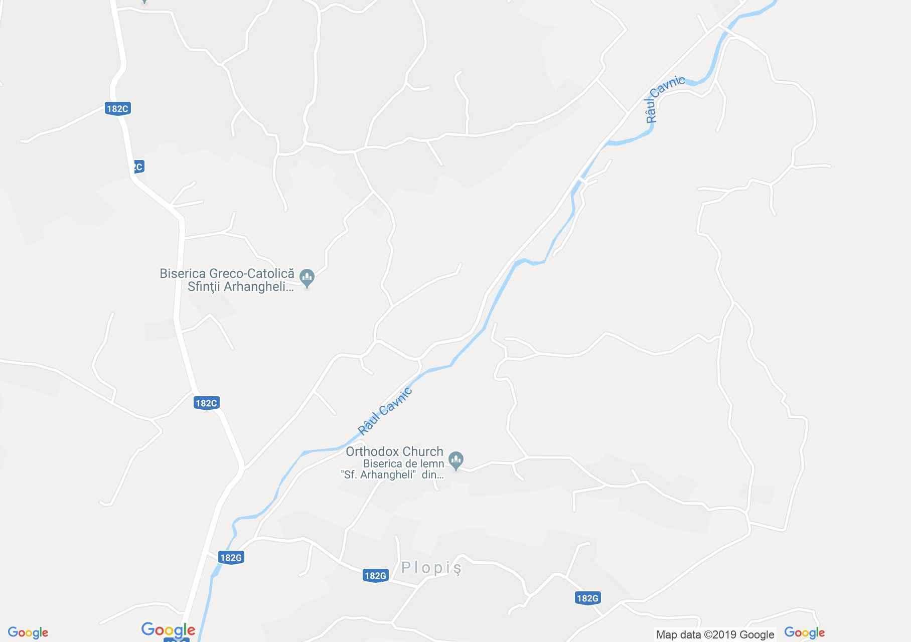 Map of Plopiş: Wooden church