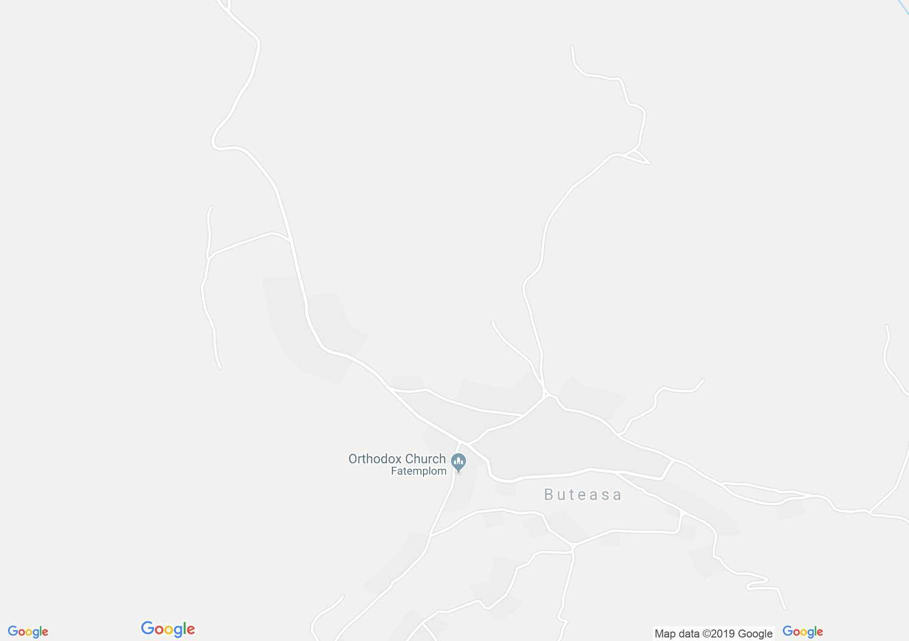 Map of Buteasa: Wooden church