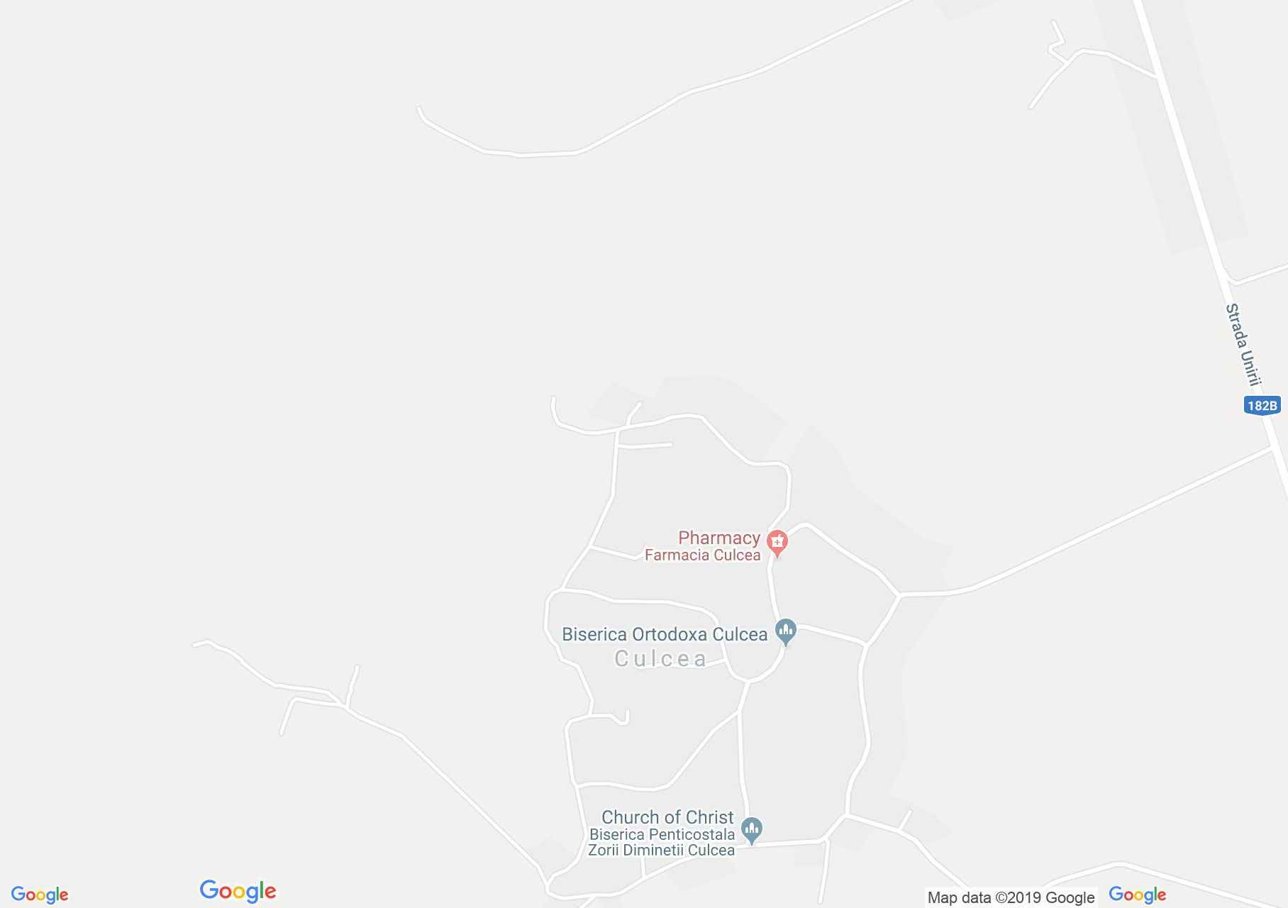Hartă Culcea: Biserica de lemn