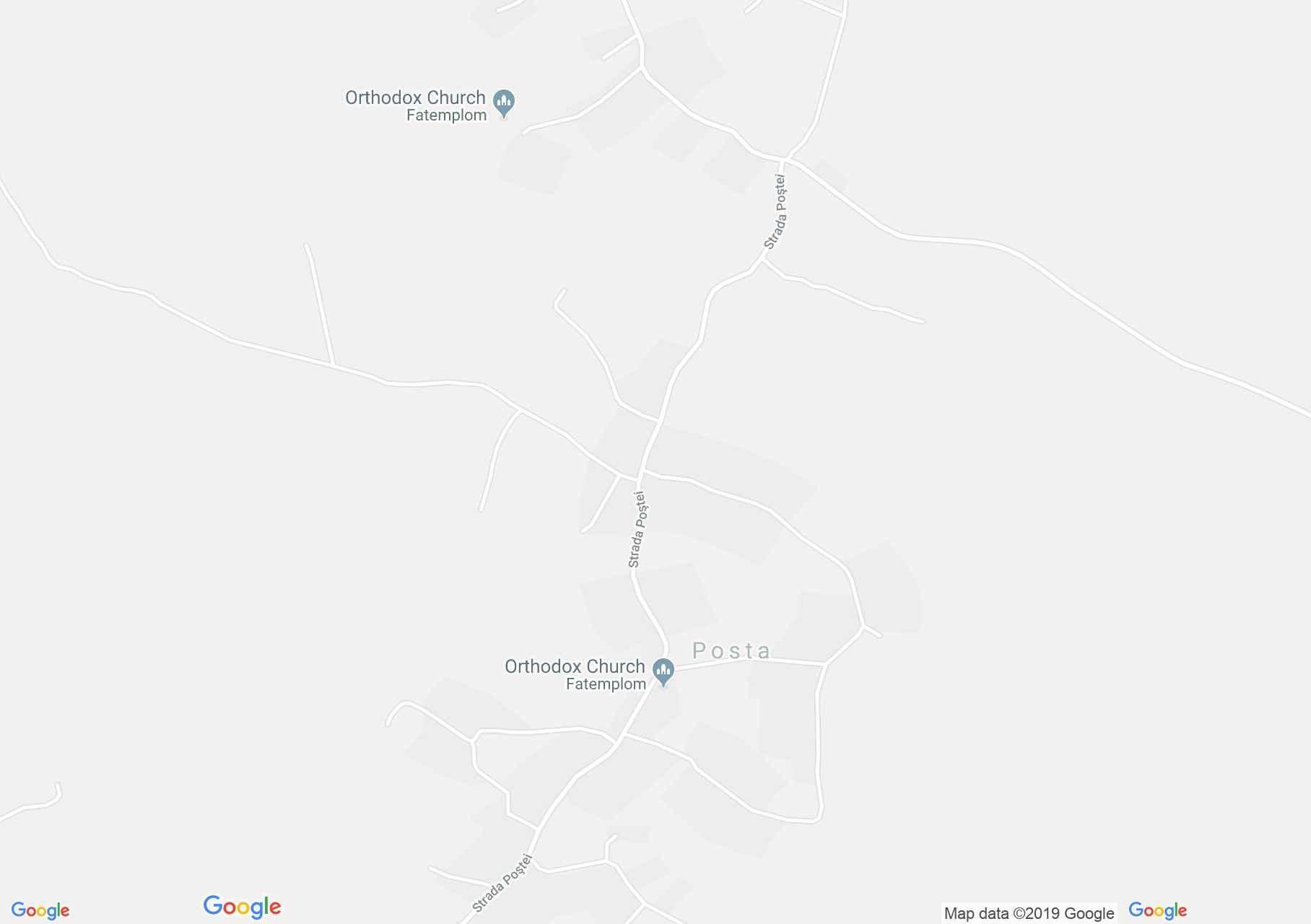 Hartă Posta: Biserica de lemn
