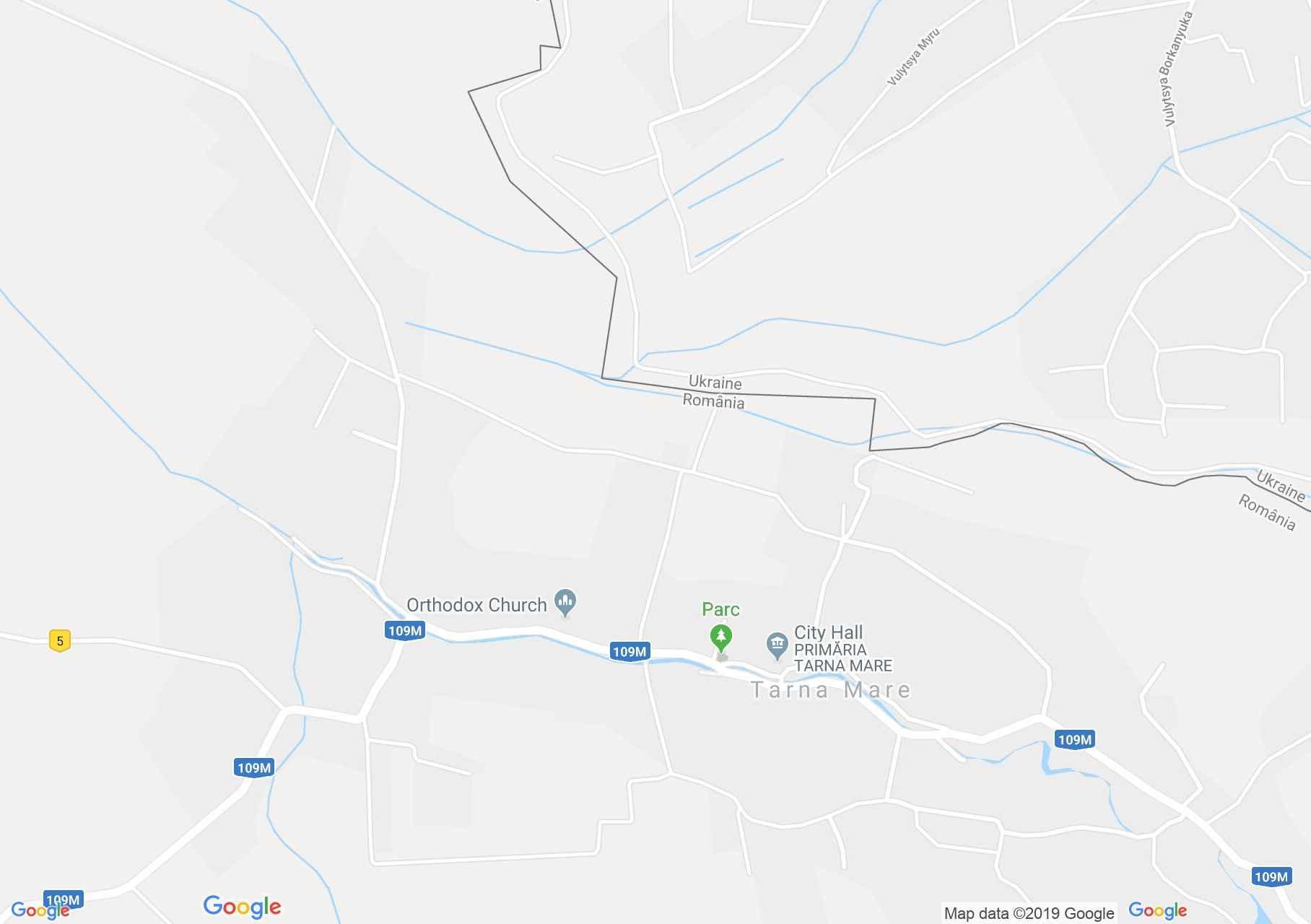 Hartă Tarna Mare: Biserica catolică