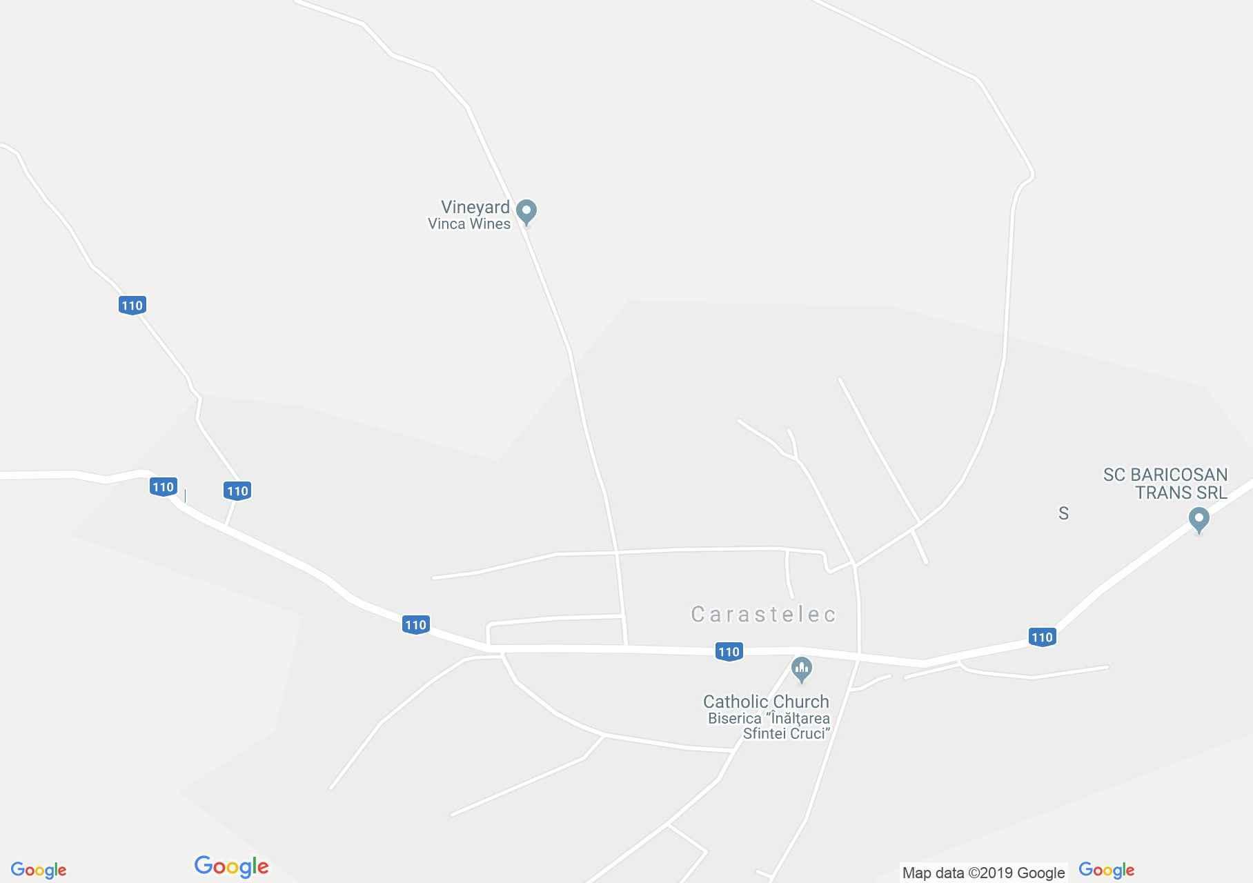 Hartă Carastelec