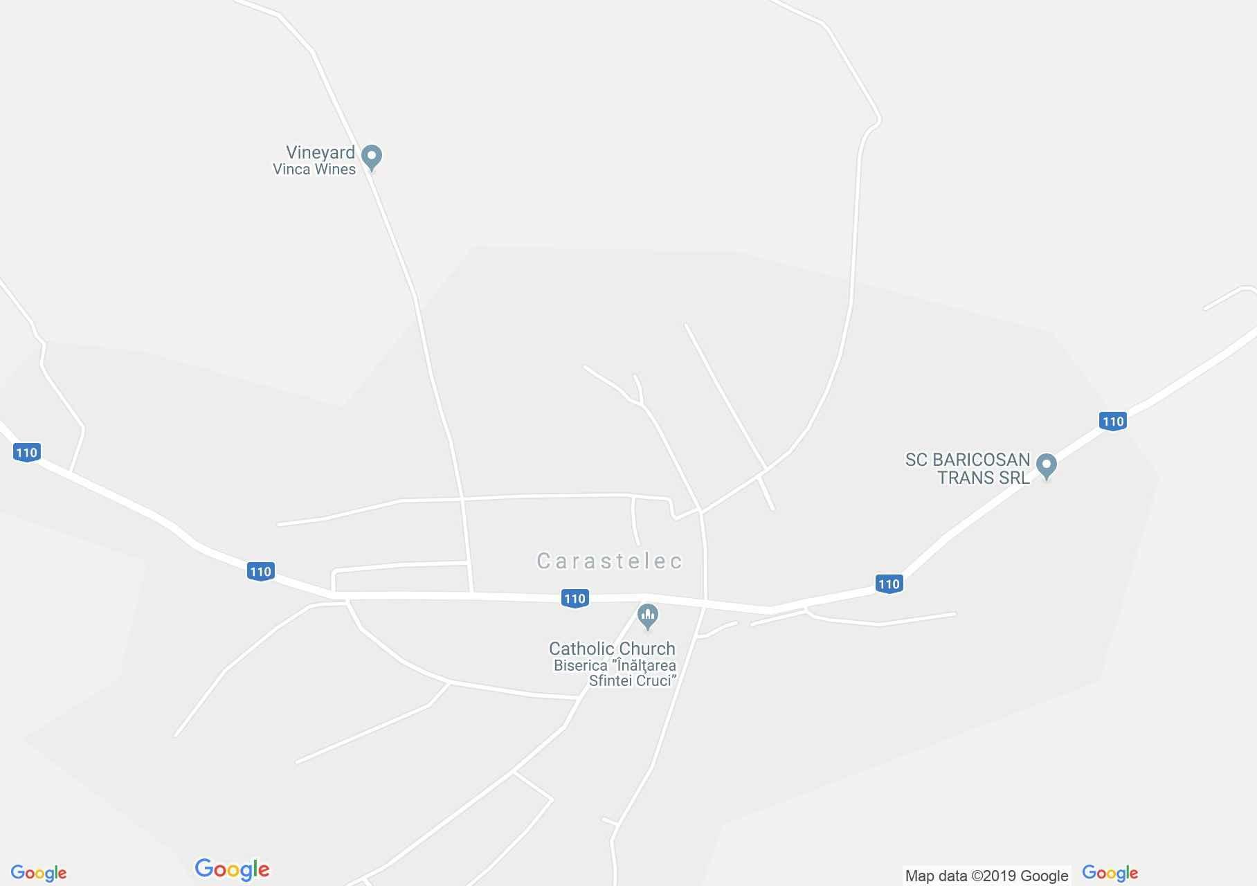 Hartă Carastelec: Parohia catolică
