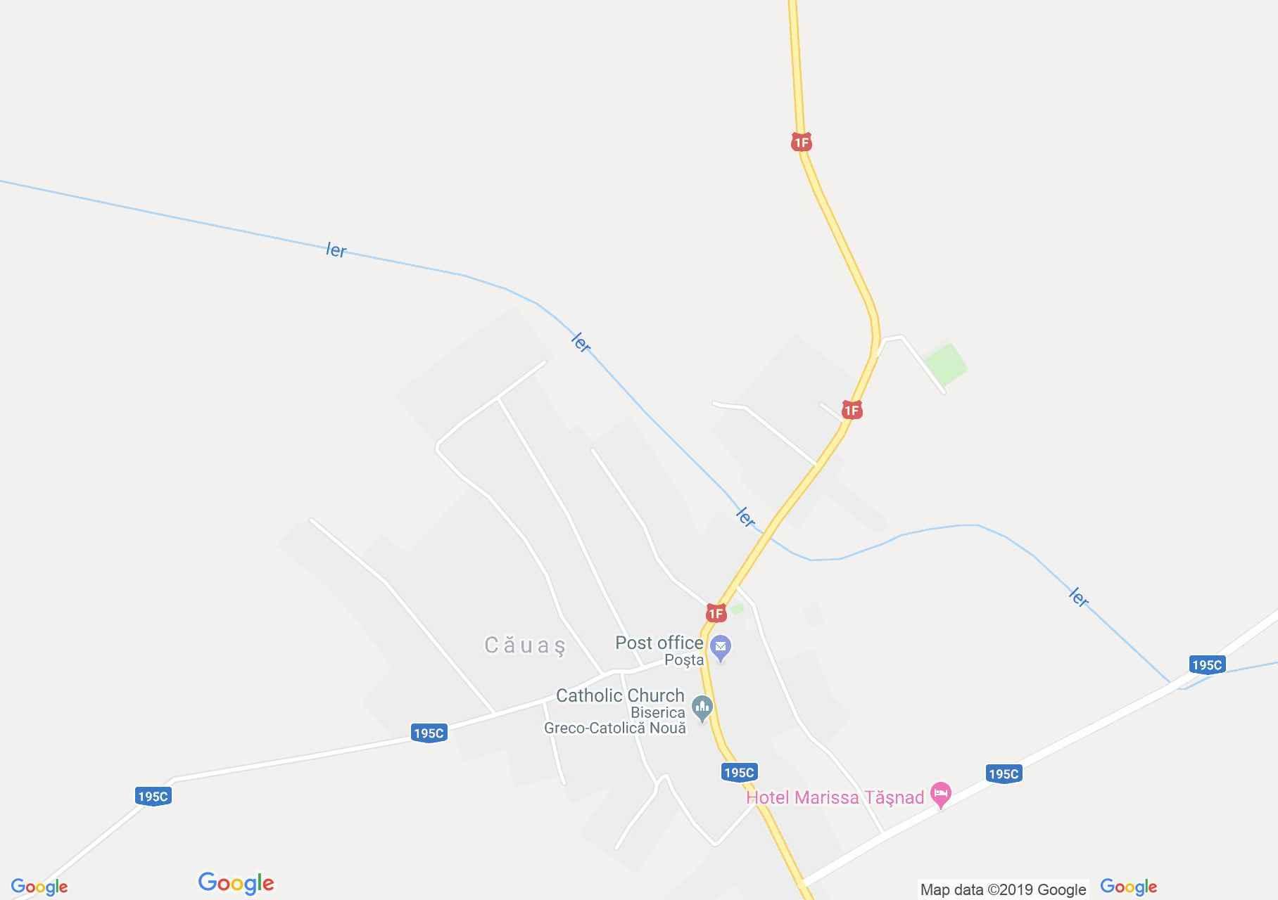 Hartă Căuaş: Biserica ortodoxă