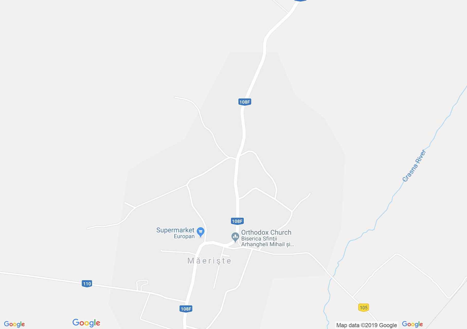 Krasznahidvég: Ortodox templom (térkép)