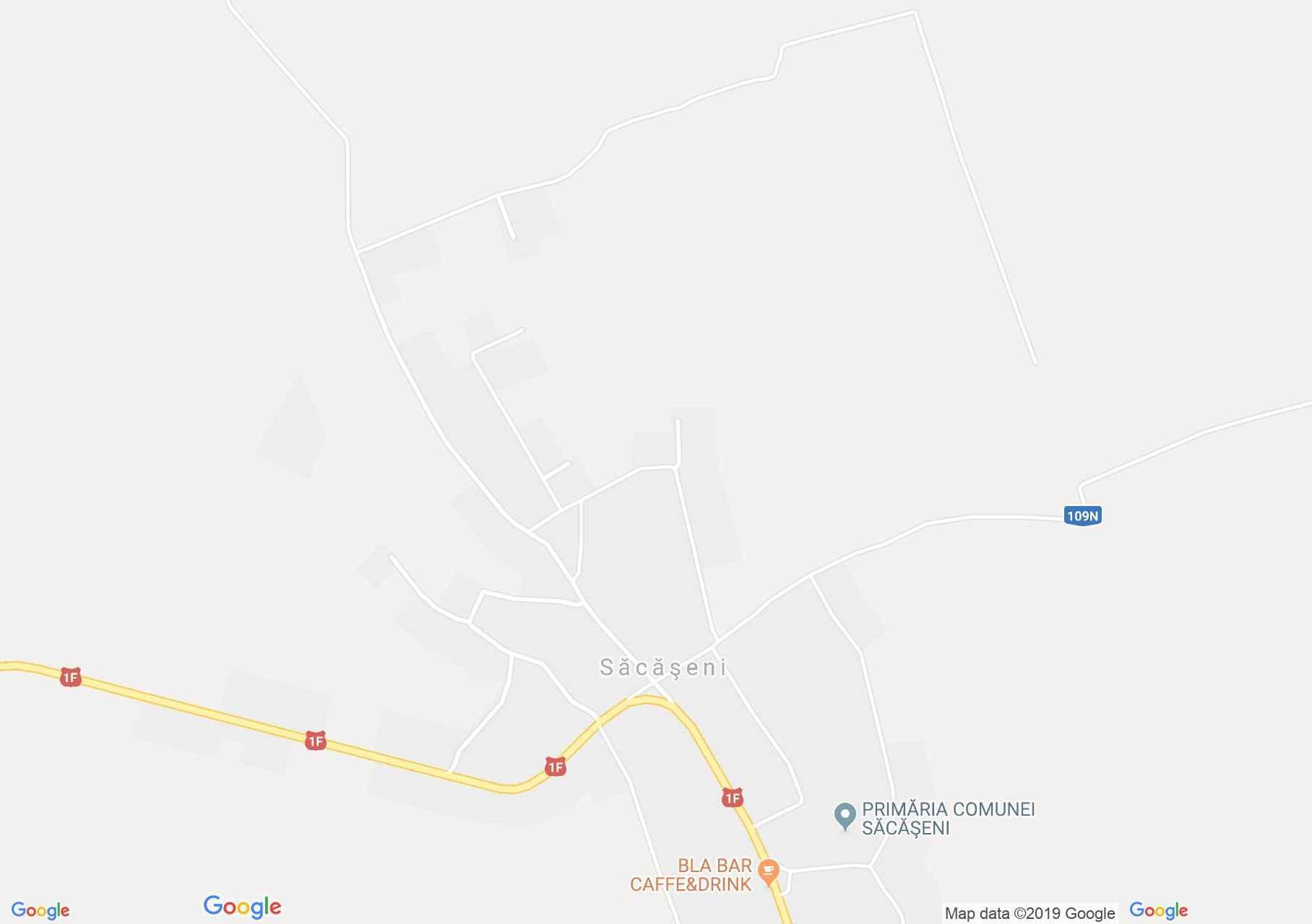 Map of Săcăşeni