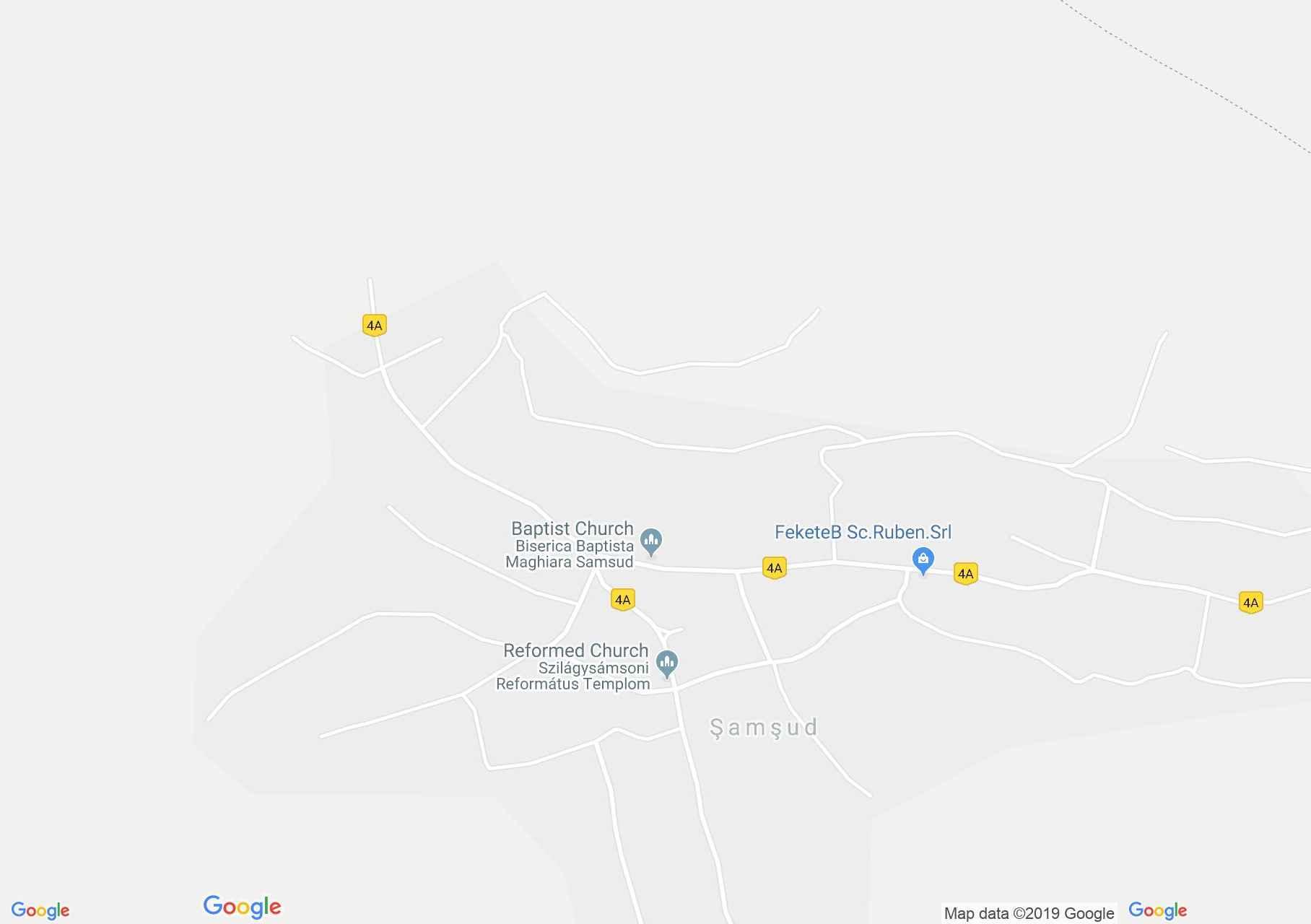 Hartă Şamşud: Biserica reformată