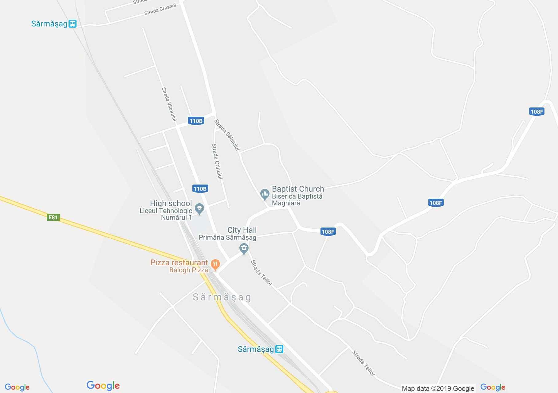 Hartă Şărmăşag: Biserica catolică