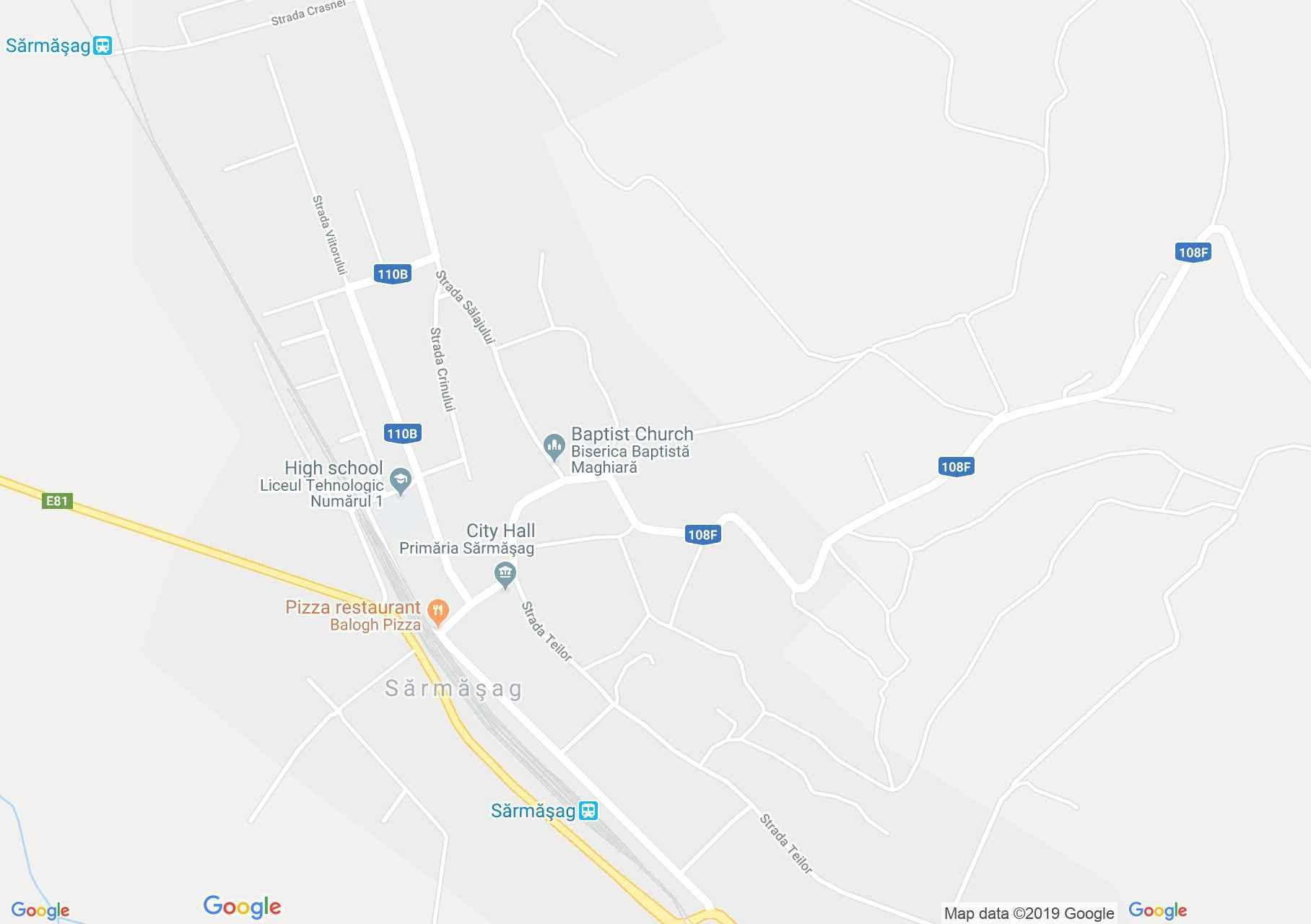 Map of Şărmăşag: Ethnographic Museum