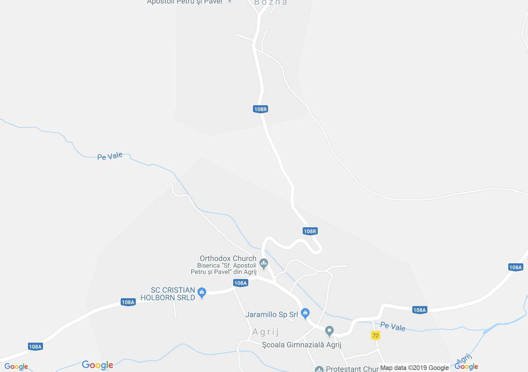 Hartă Agrij: Biserica greco-catolică, acum ortodoxă