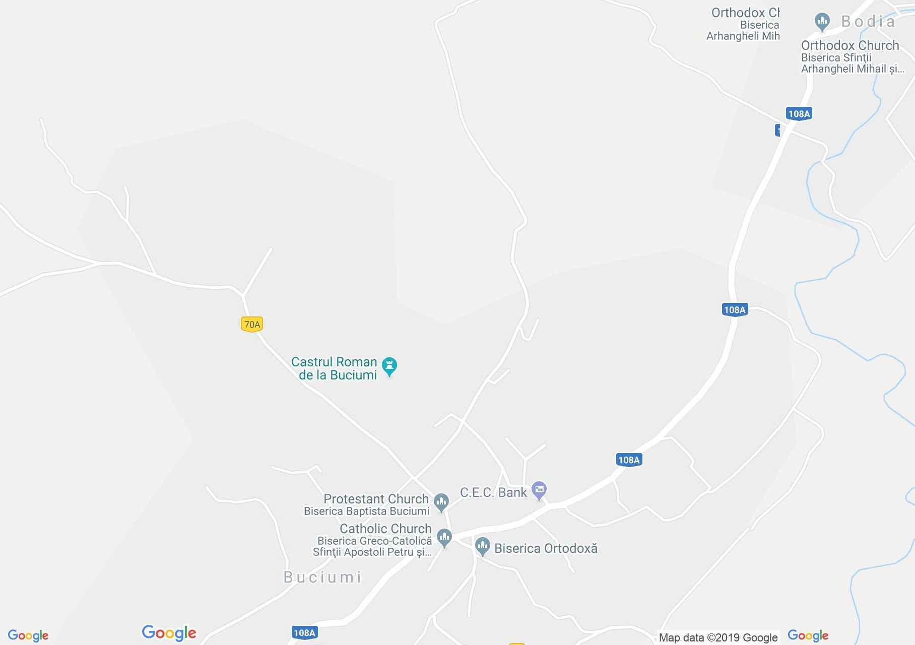 Vármező: Római vár (térkép)
