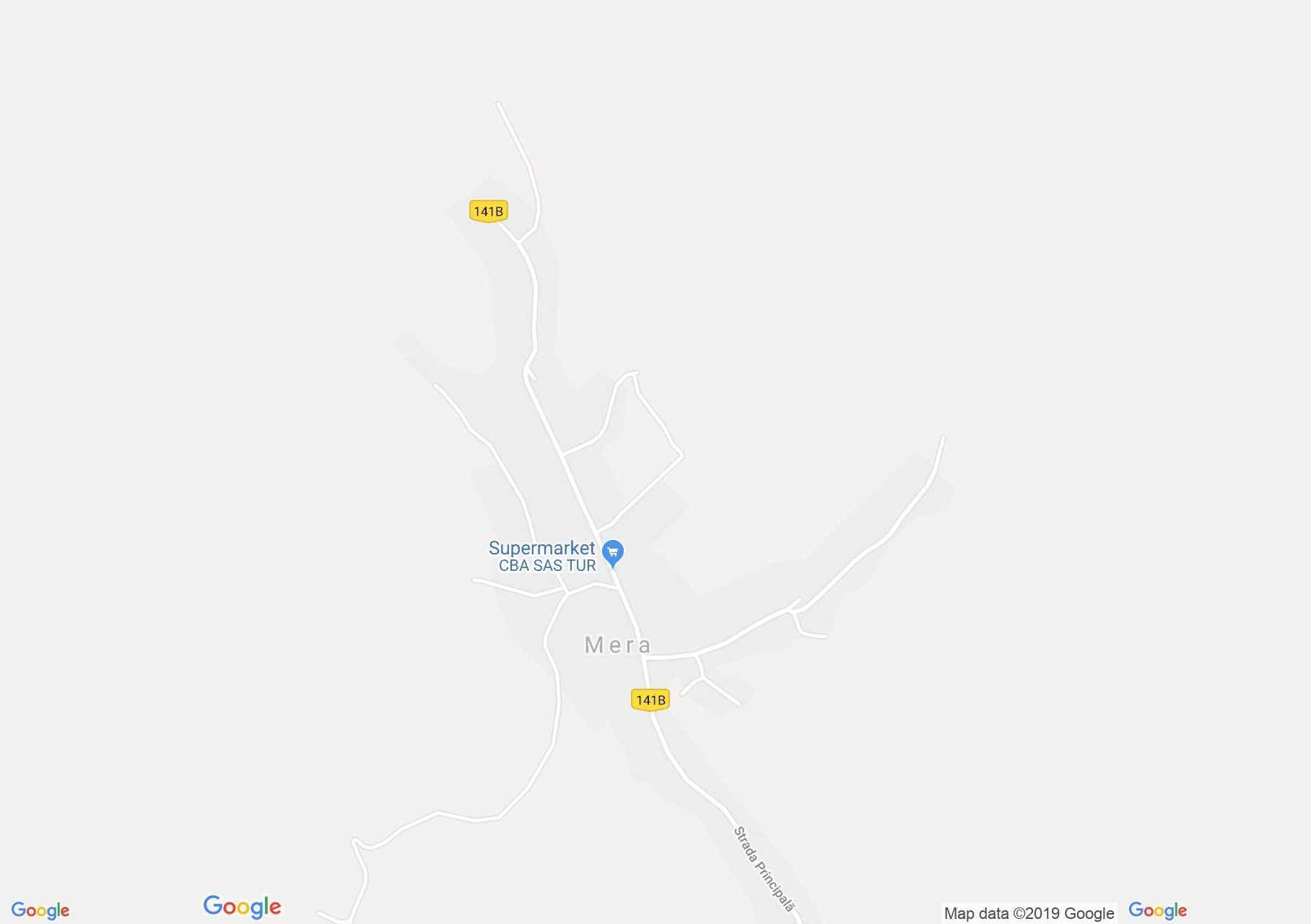 Map of Mera: Reformed church