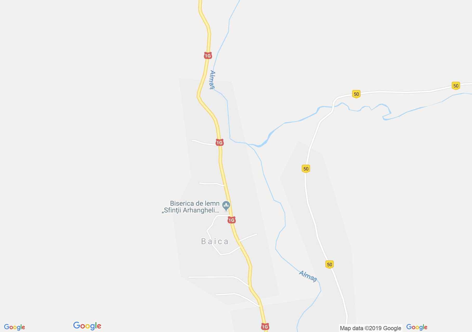 Bányika: Fatemplom (térkép)