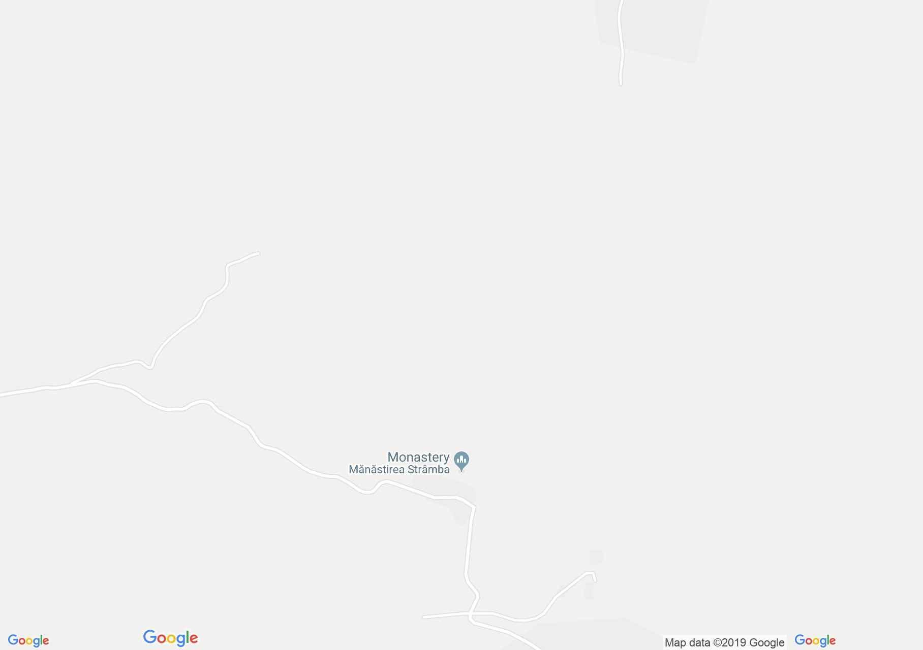 Tyikló: Strâmba kolostor (térkép)