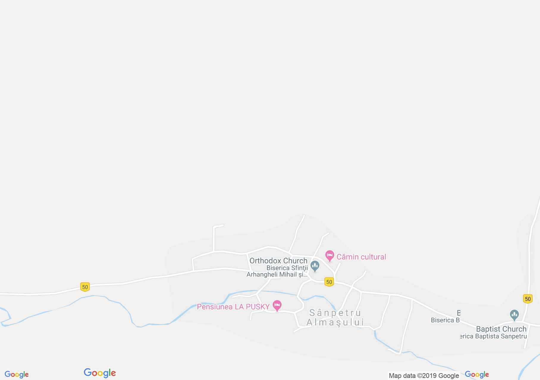 Hartă Sîmpetru Almaşului: Biserica de lemn