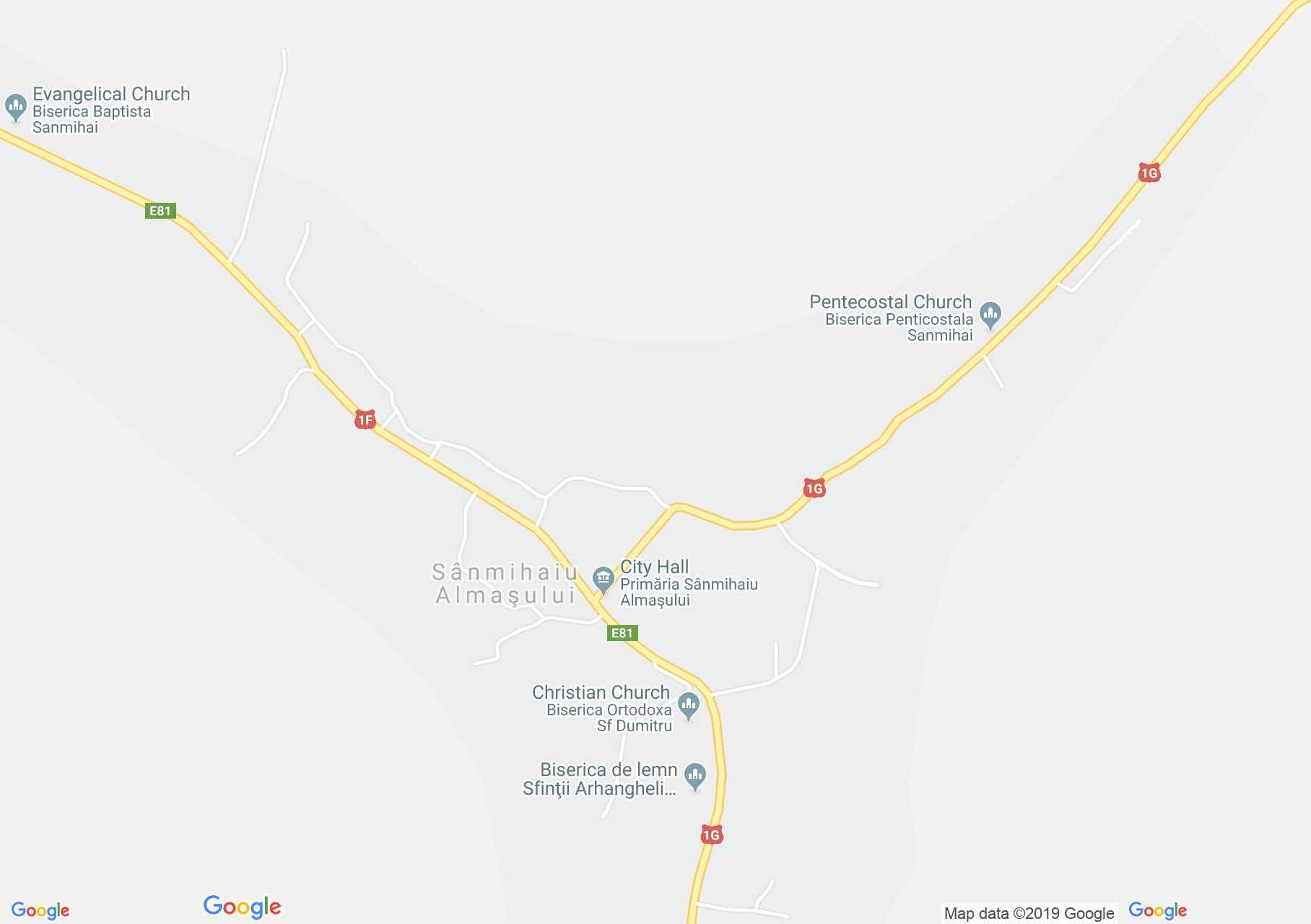 Almásszentmihály: Fatemplom (térkép)