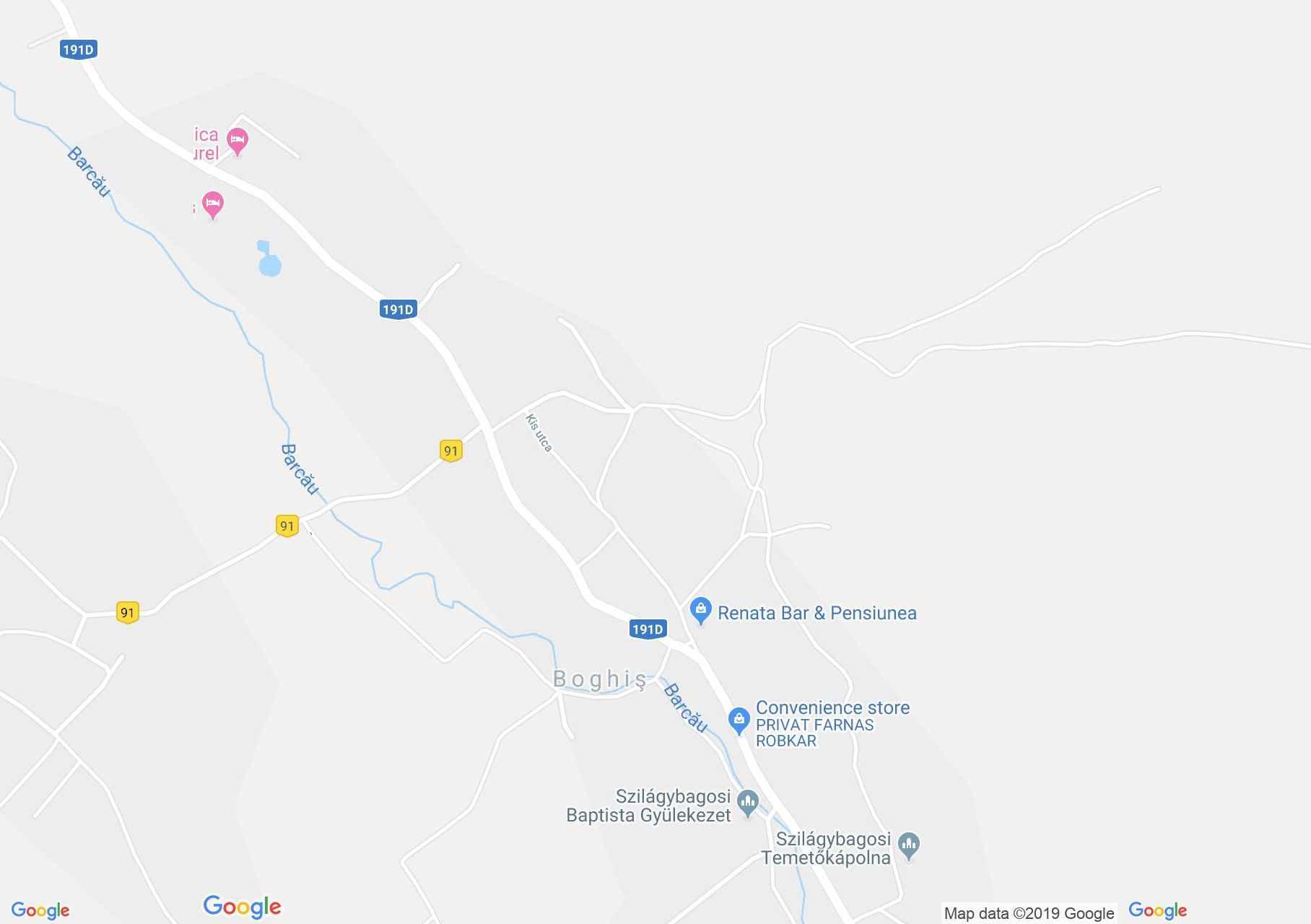 Map of Boghiş