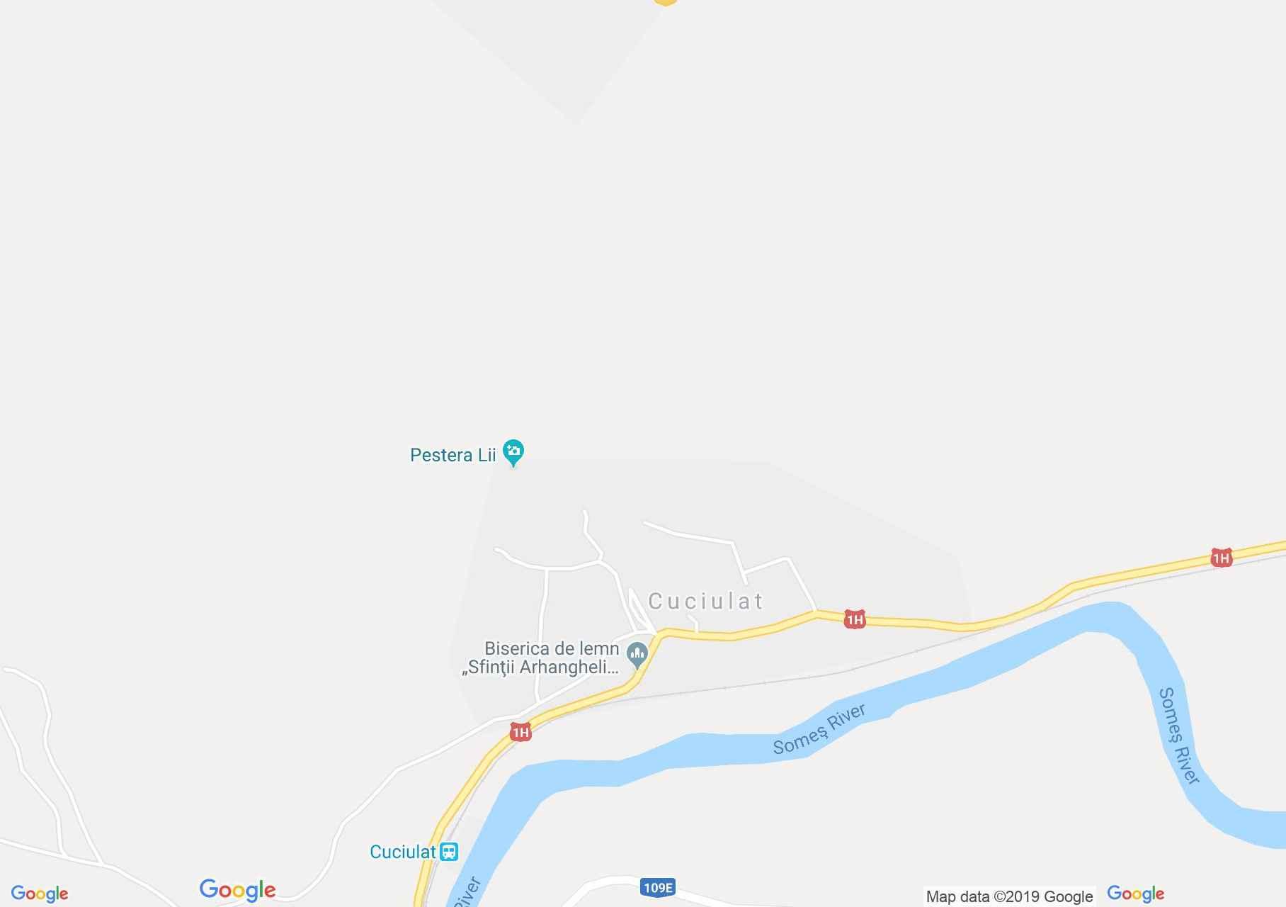 Map of Cuciulat: Wooden church