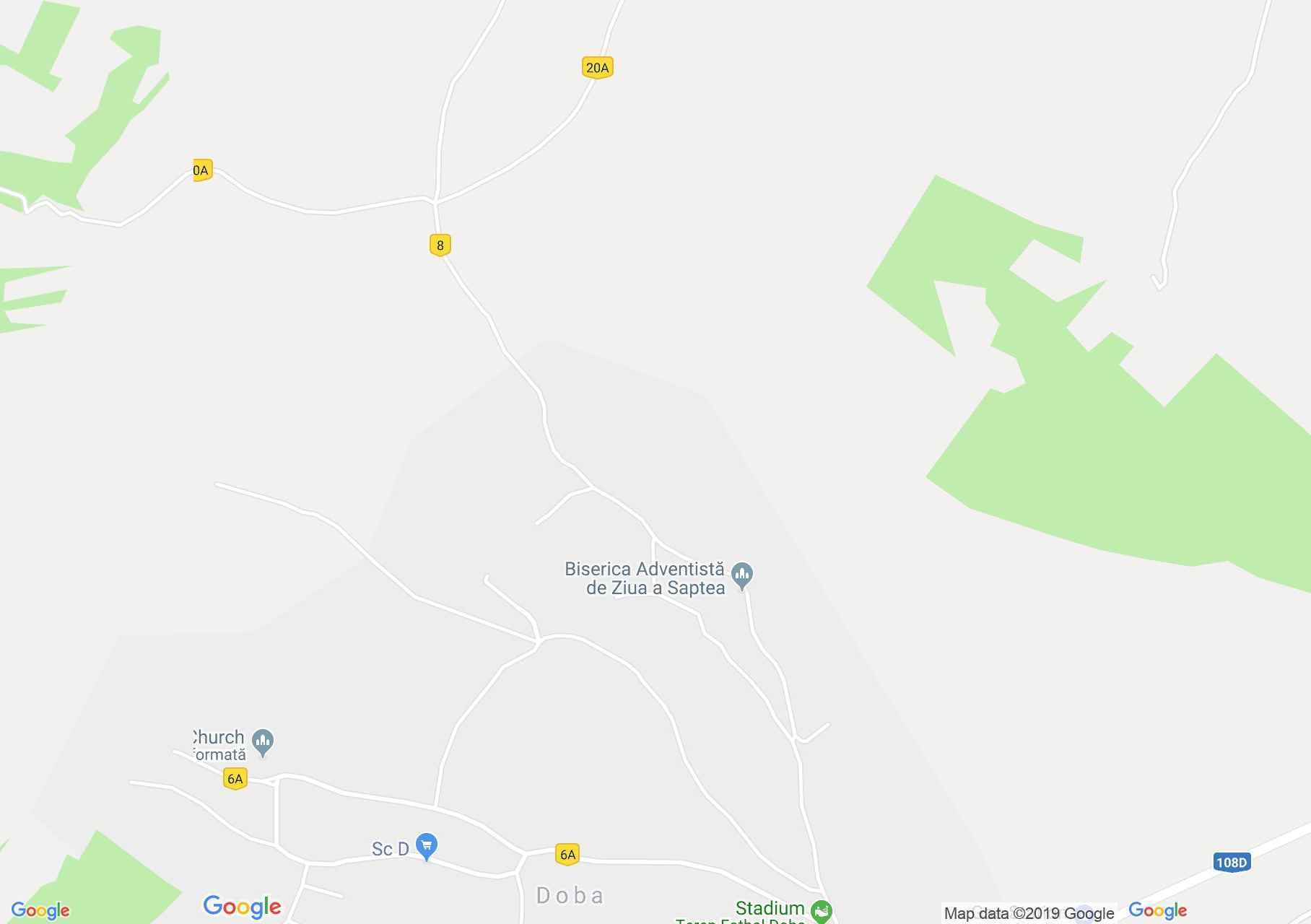 Hartă Doba: Doba (Mica), Biserica reformata