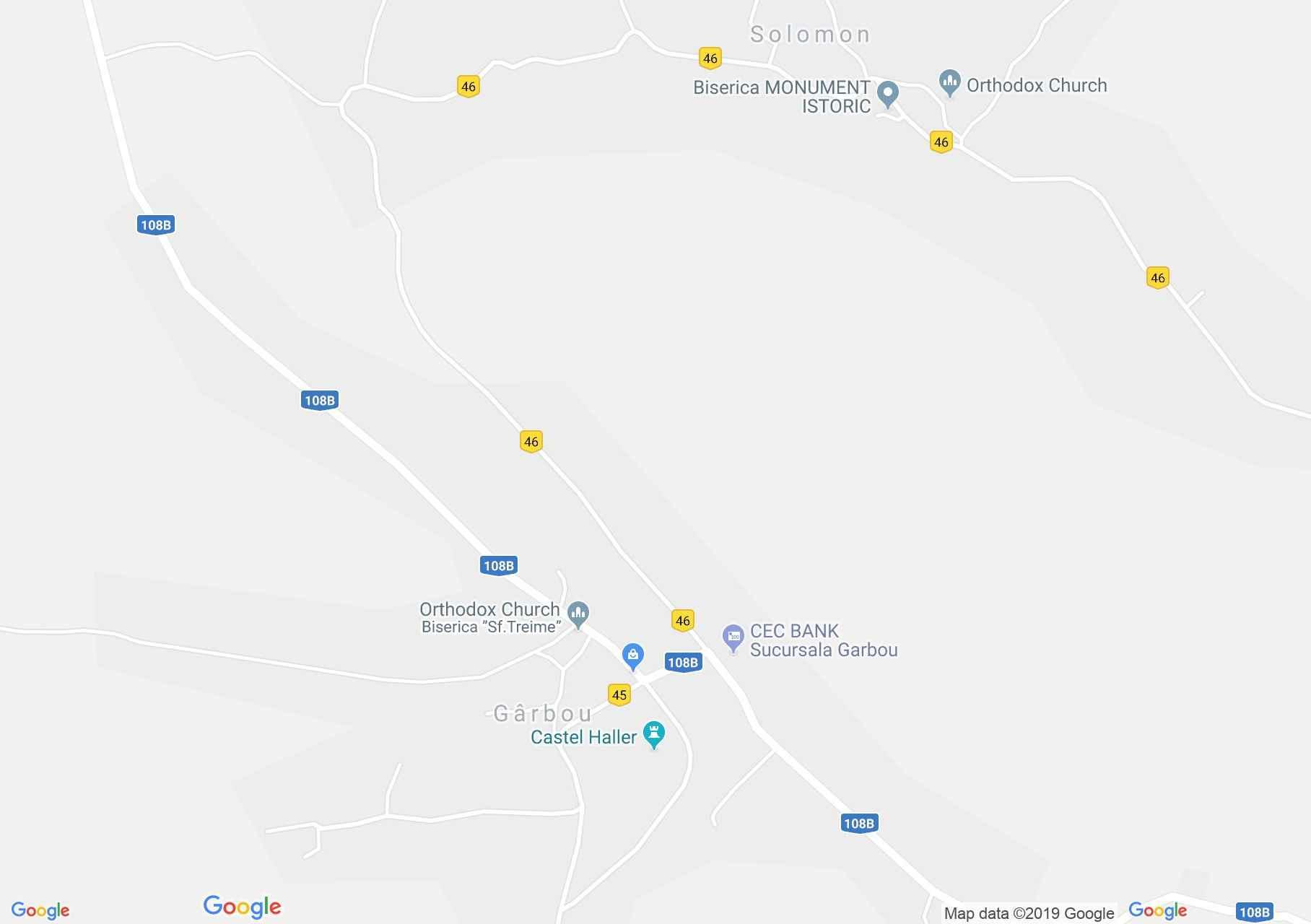 Hartă Gîrbău: Primaria