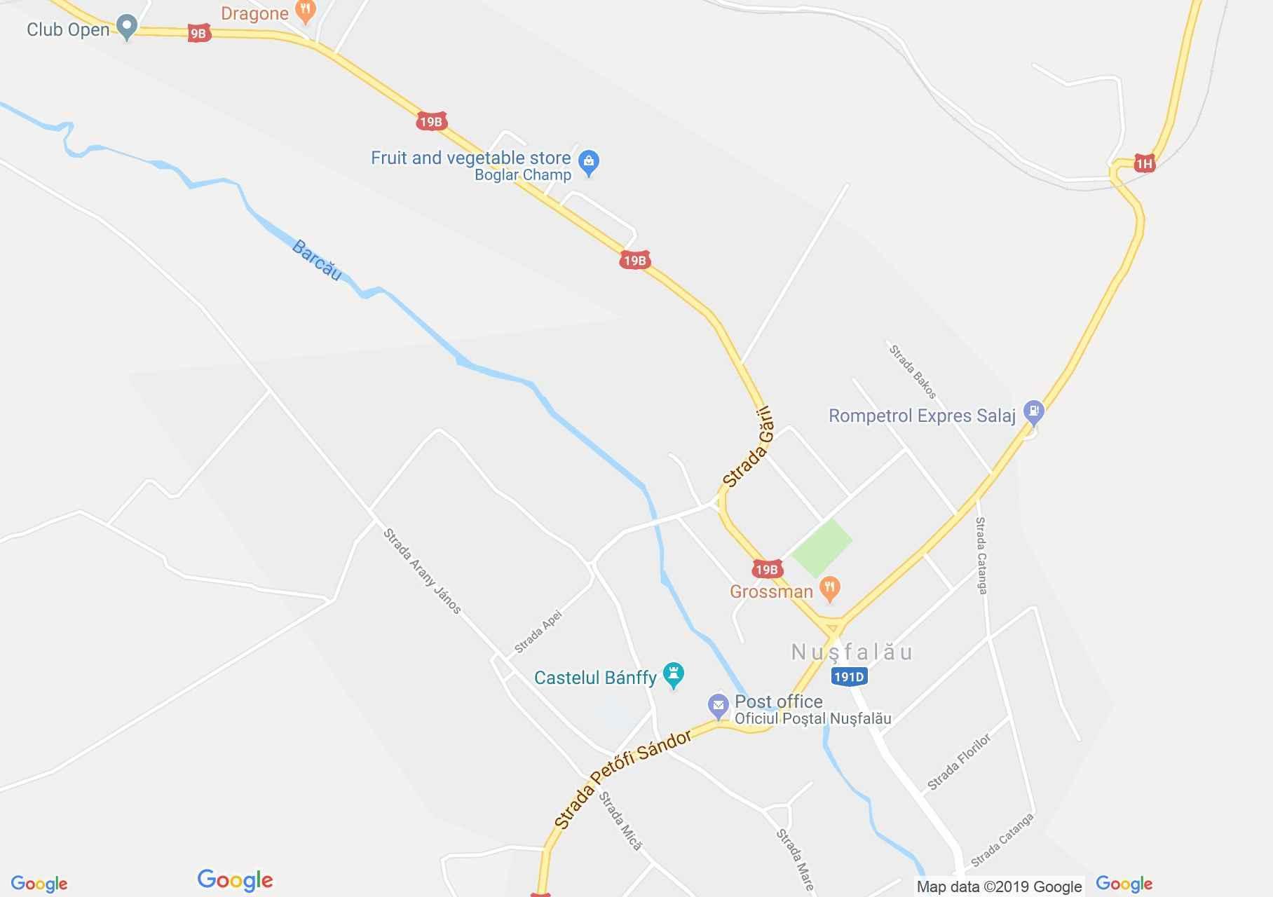 Szilágynagyfalu: Bánffy udvarház (térkép)