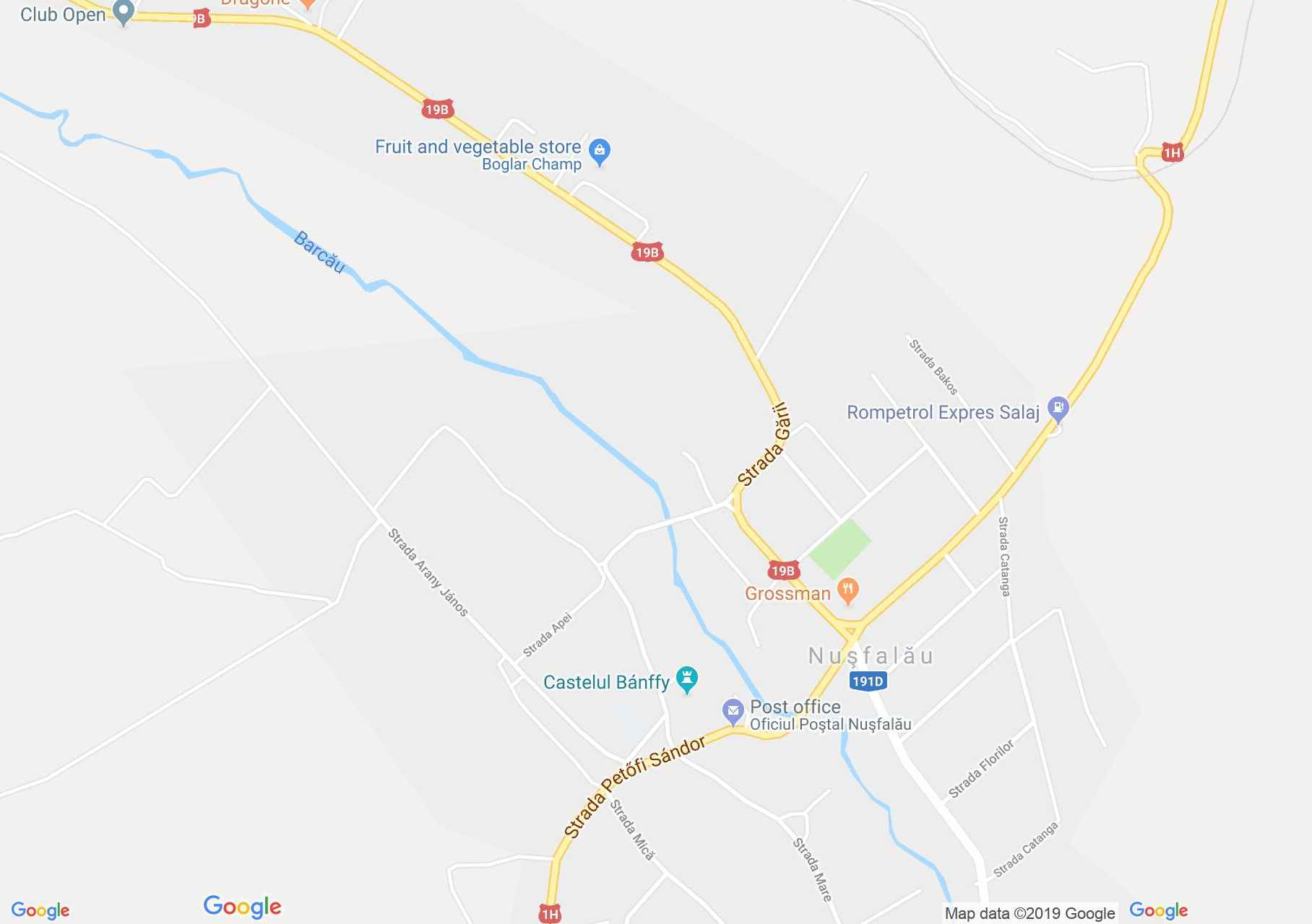 Szilágynagyfalu: Bánffy udvarház raktára (térkép)