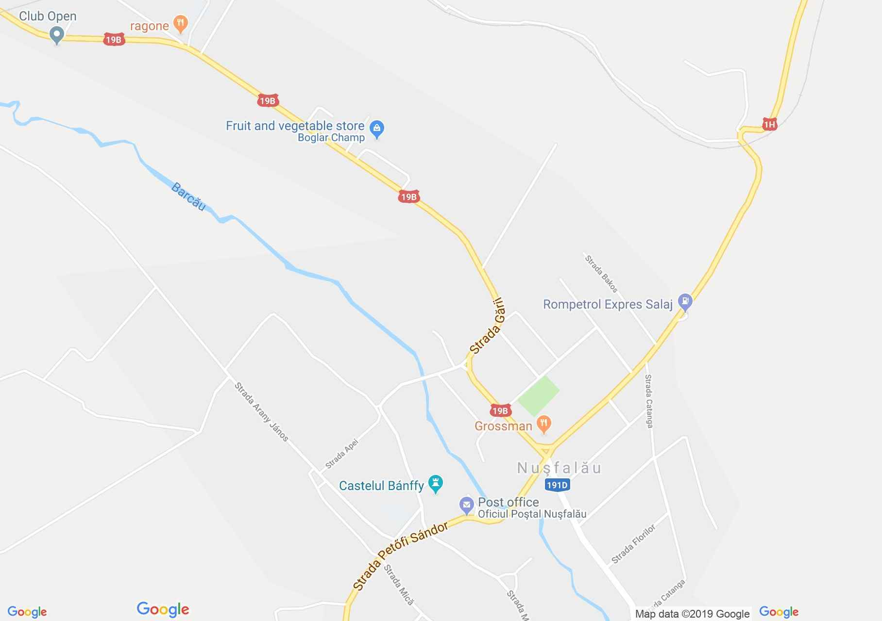 Szilágynagyfalu: Bánffy park (térkép)