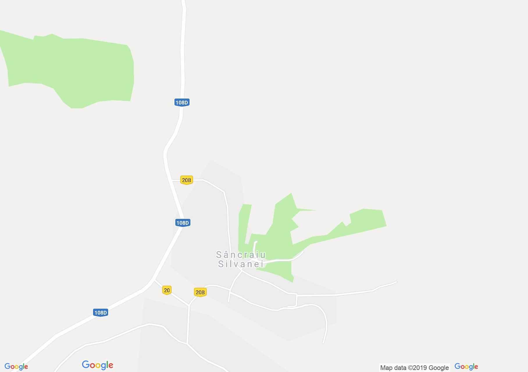 Hartă Sâncraiu Silvaniei: Biserica reformată