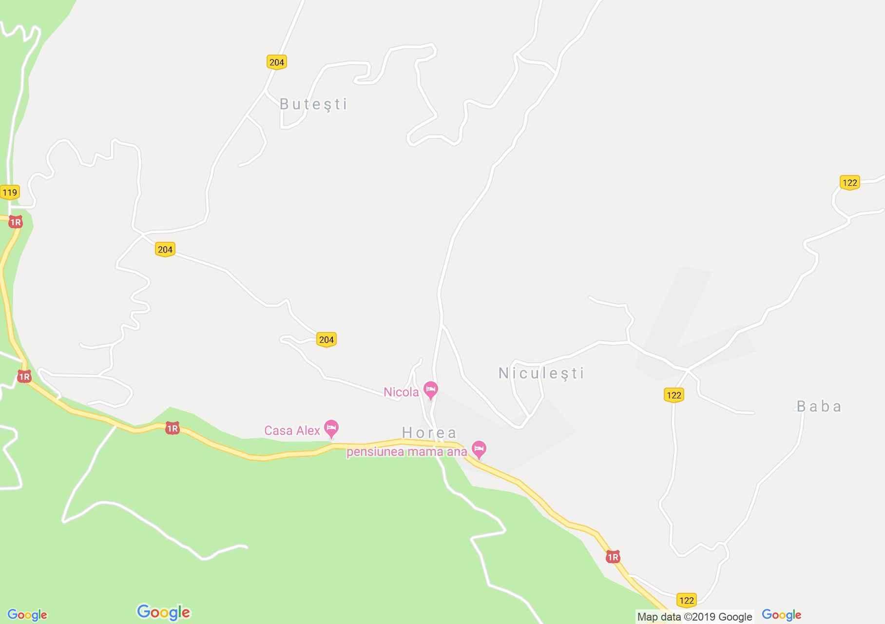 Horea: Móc ház (térkép)