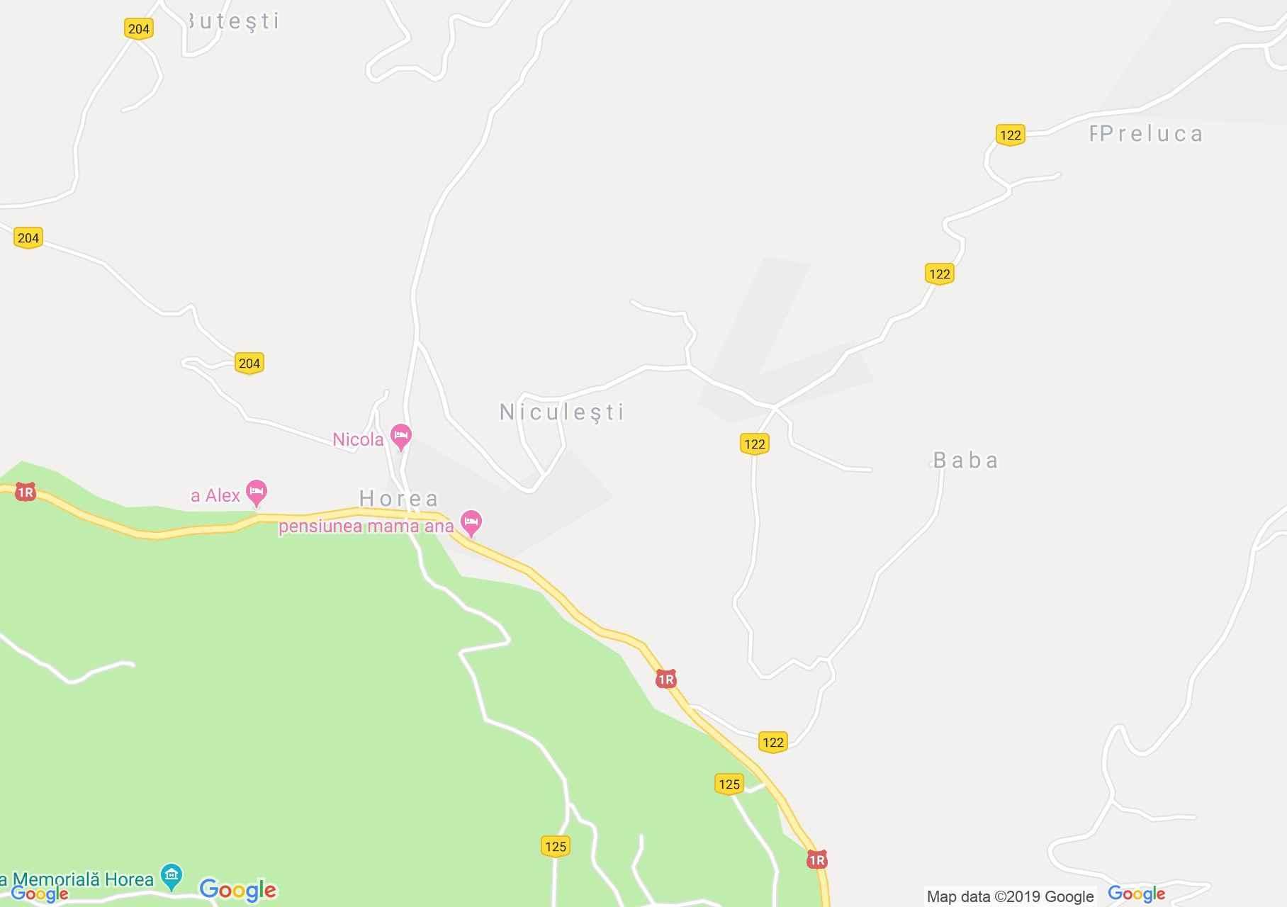 Horea: Olăreşti Panzió (térkép)