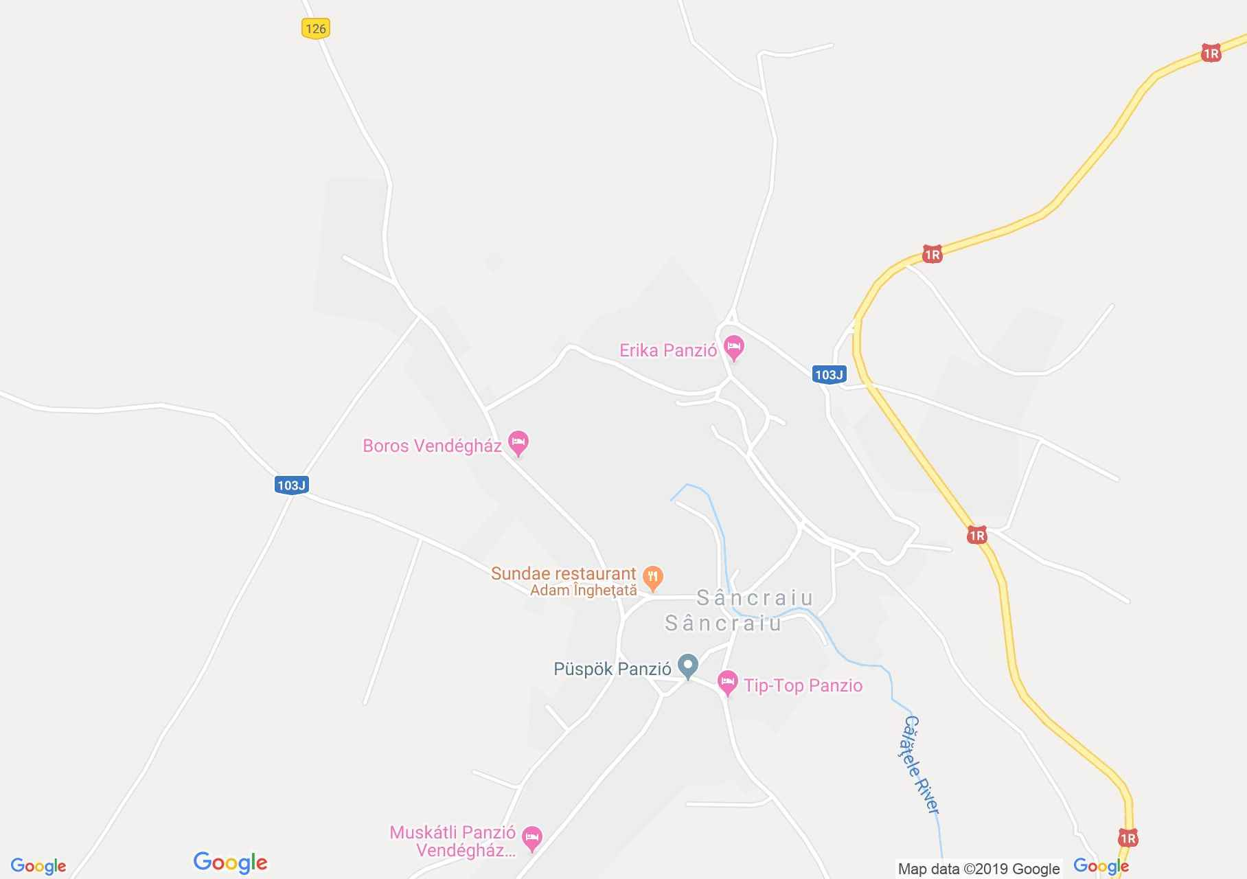 Kalotaszentkirály: Császár panzió (térkép)