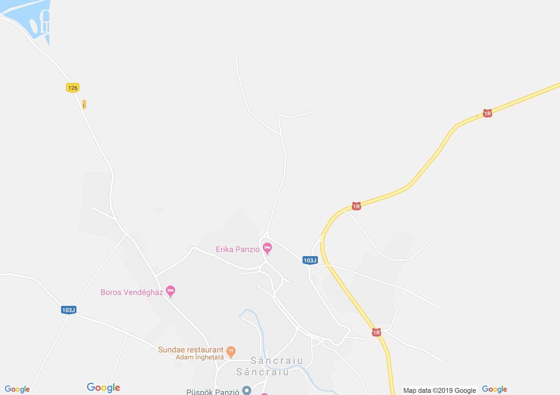 Map of Sâncraiu: Eva pension