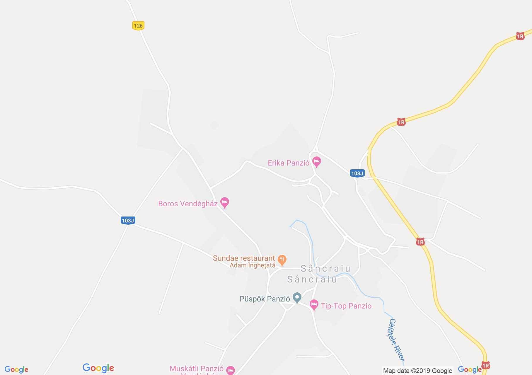 Hartă Sâncraiu: Pensiunea Gólyafészek