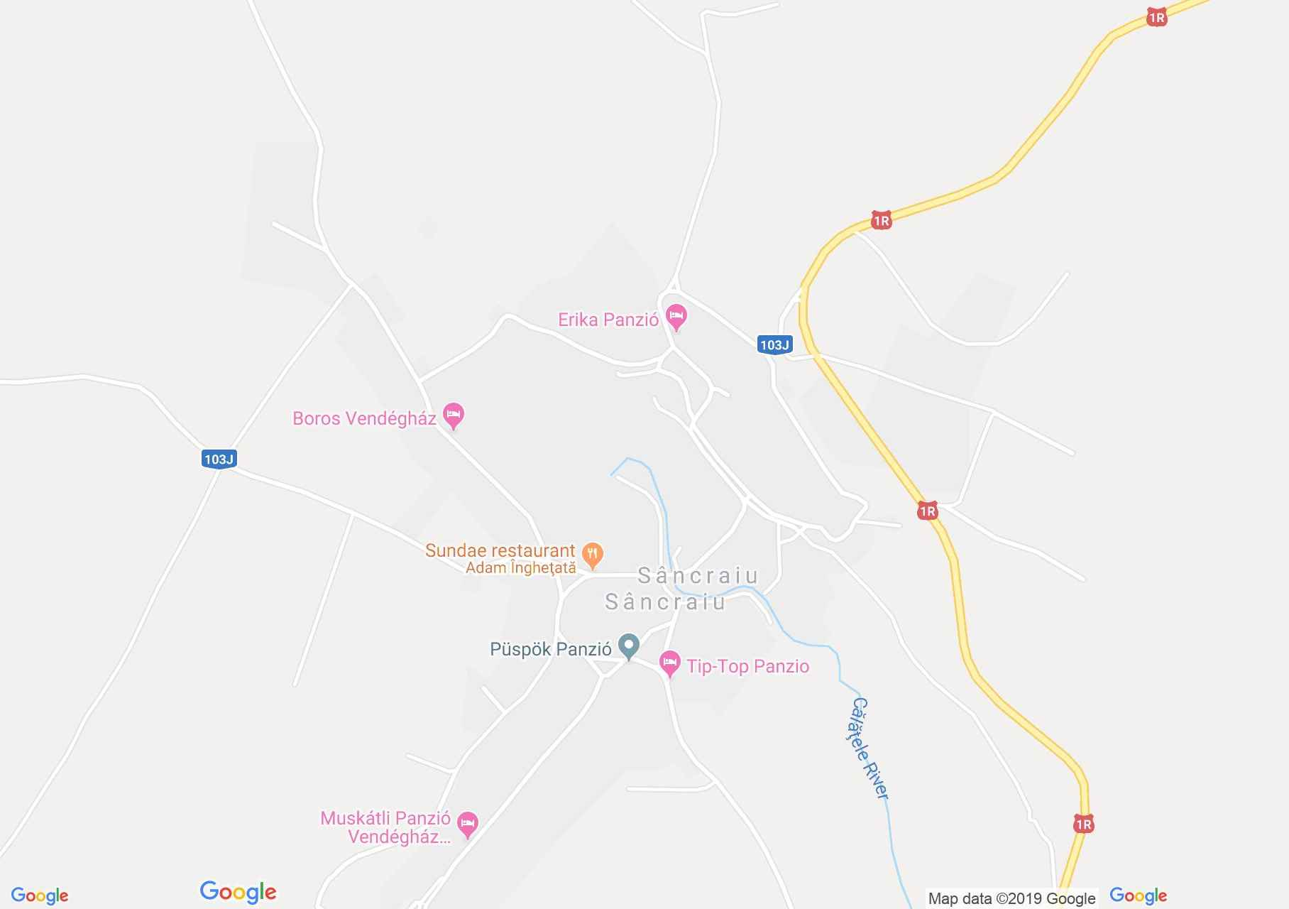 Map of Sâncraiu: Hajnal pension