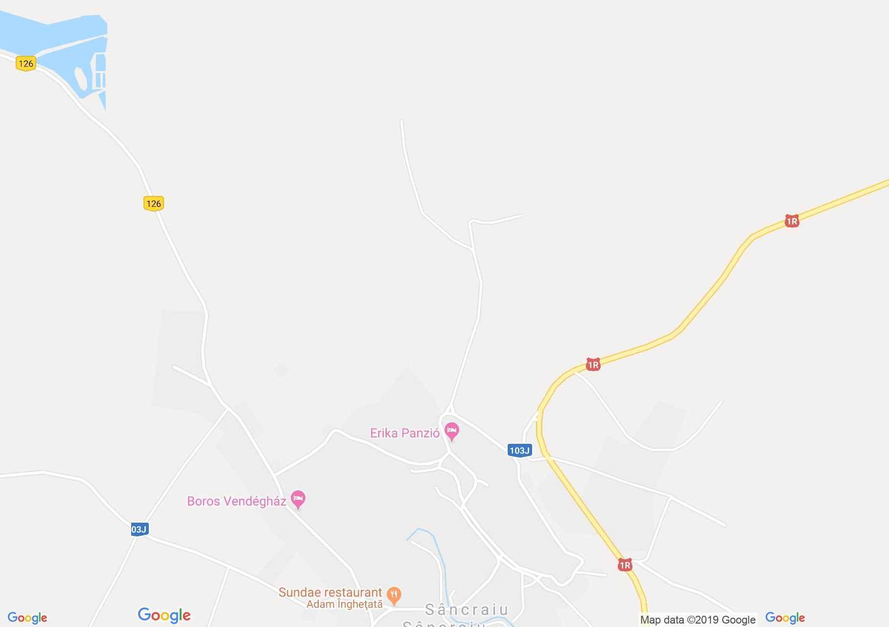 Map of Sâncraiu: Leda pension