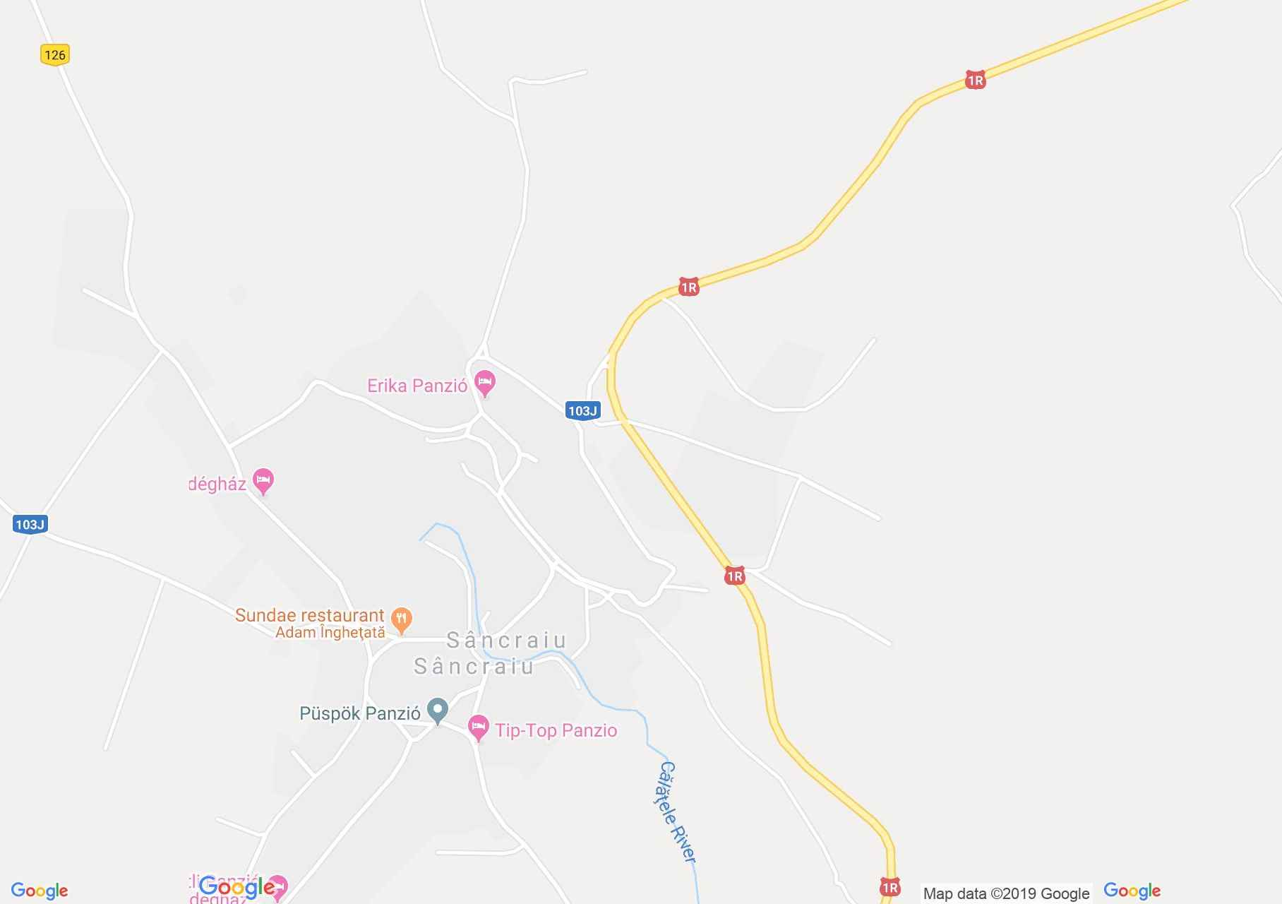 Map of Sâncraiu: Monika pension